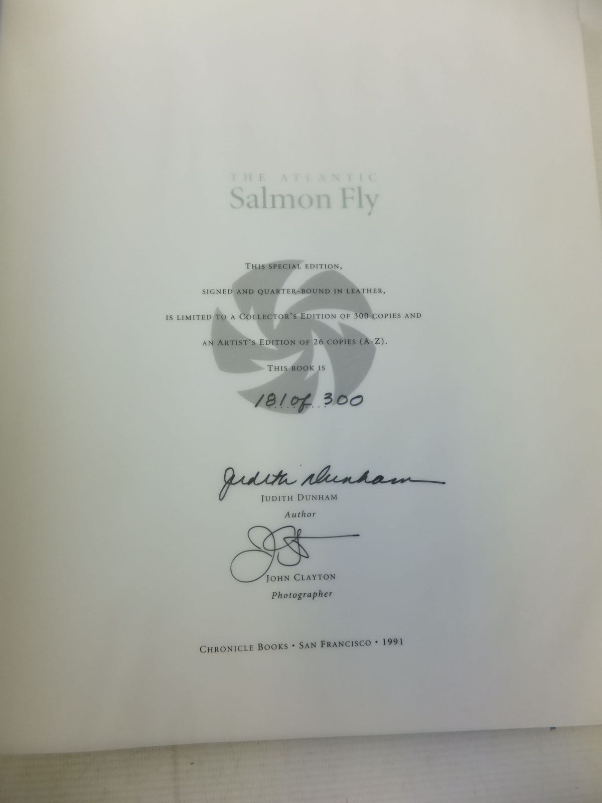 Photo of THE ATLANTIC SALMON FLY written by Dunham, Judith published by Chronicle Books (STOCK CODE: 2118408)  for sale by Stella & Rose's Books