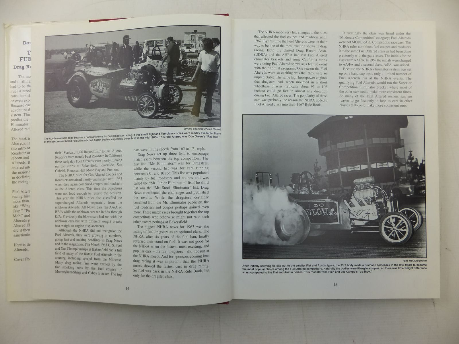 THOSE WILD FUEL ALTEREDS DRAG RACING IN THE SIXTIES written by