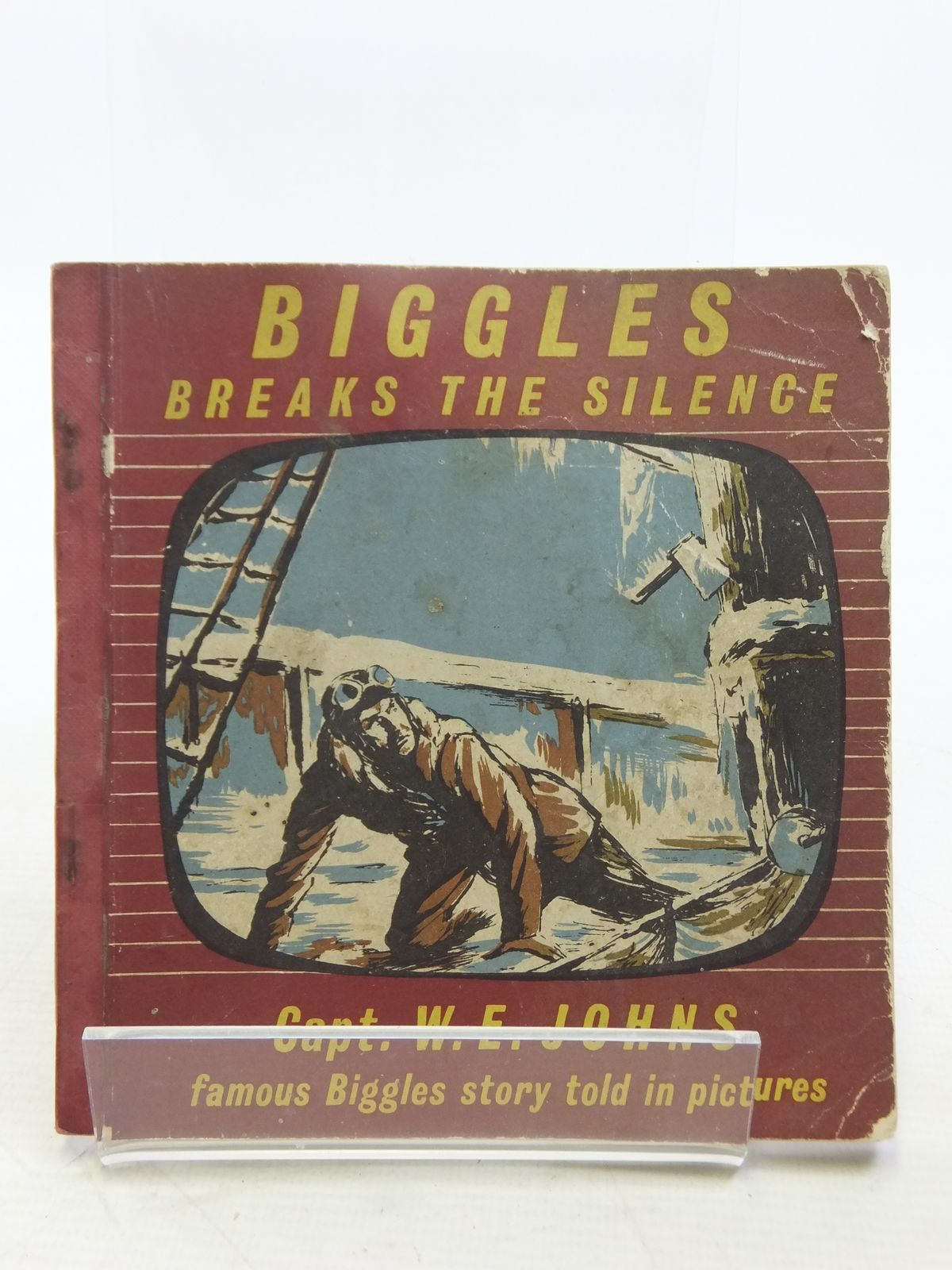 Photo of BIGGLES BREAKS THE SILENCE written by Johns, W.E. illustrated by Kay,  published by The Brockhampton Press Ltd. (STOCK CODE: 2119099)  for sale by Stella & Rose's Books