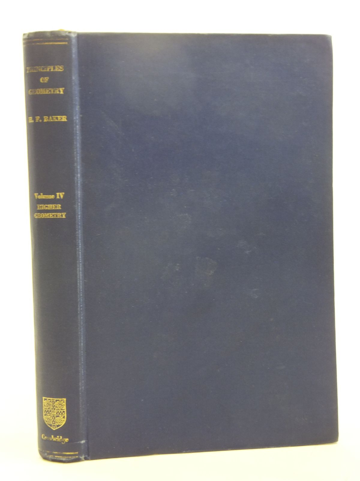 Photo of PRINCIPLES OF GEOMETRY VOLUME IV HIGHER GEOMETRY written by Baker, H.F. published by Cambridge University Press (STOCK CODE: 2119501)  for sale by Stella & Rose's Books
