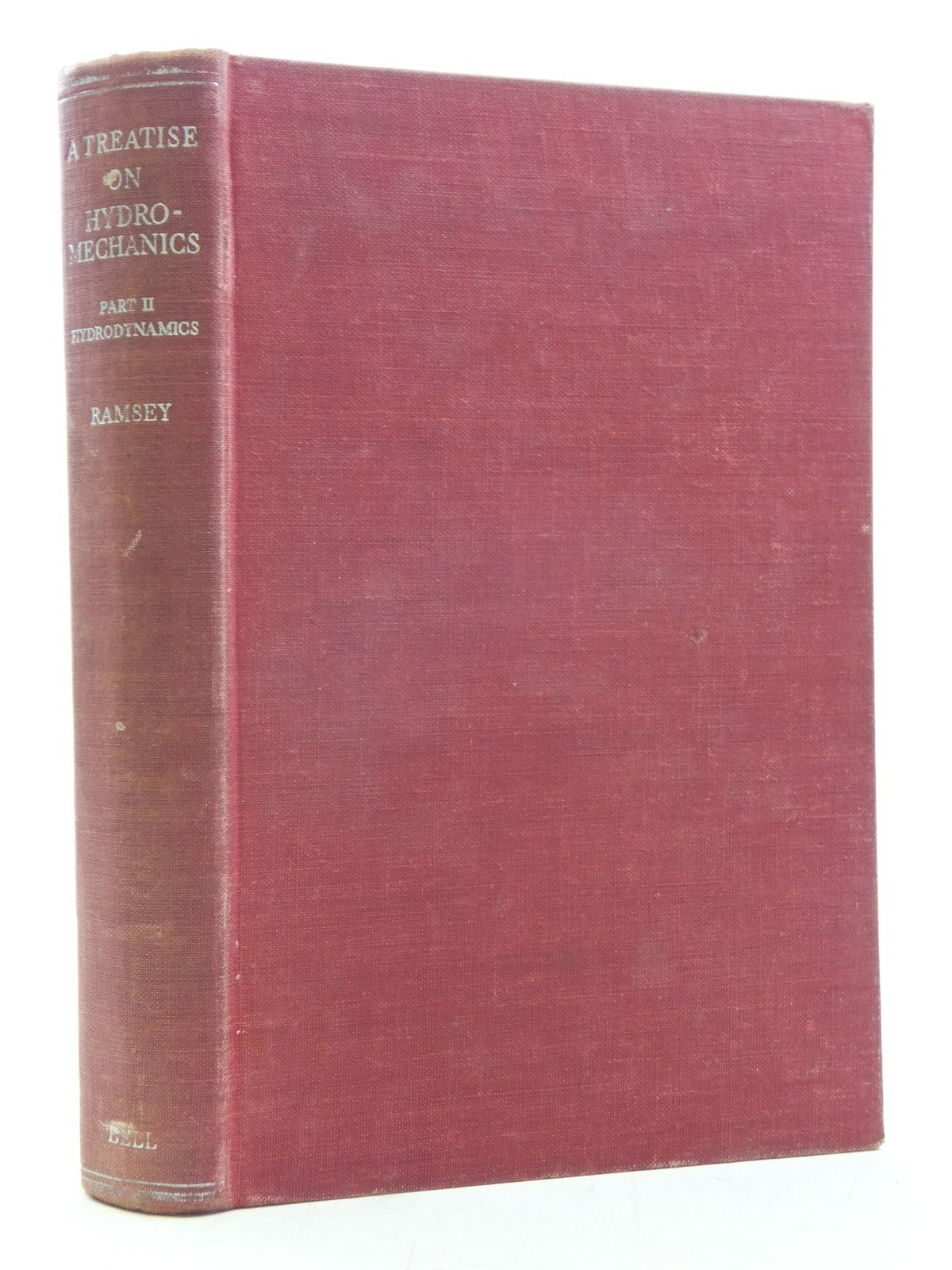 Photo of A TREATISE ON HYDROMECHANICS PART II HYDRODYNAMICS written by Ramsey, A.S. published by G. Bell & Sons Ltd. (STOCK CODE: 2119591)  for sale by Stella & Rose's Books
