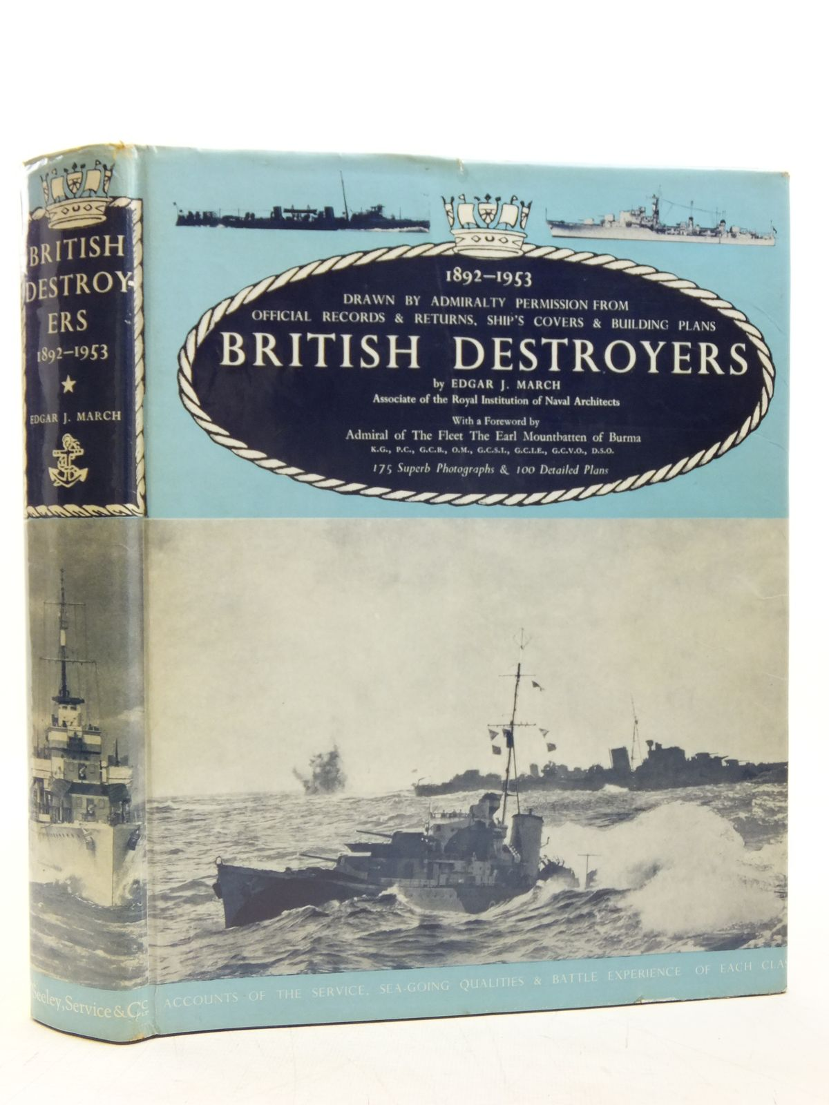 Photo of BRITISH DESTROYERS written by March, Edgar J. published by Seeley, Service & Co. (STOCK CODE: 2119901)  for sale by Stella & Rose's Books