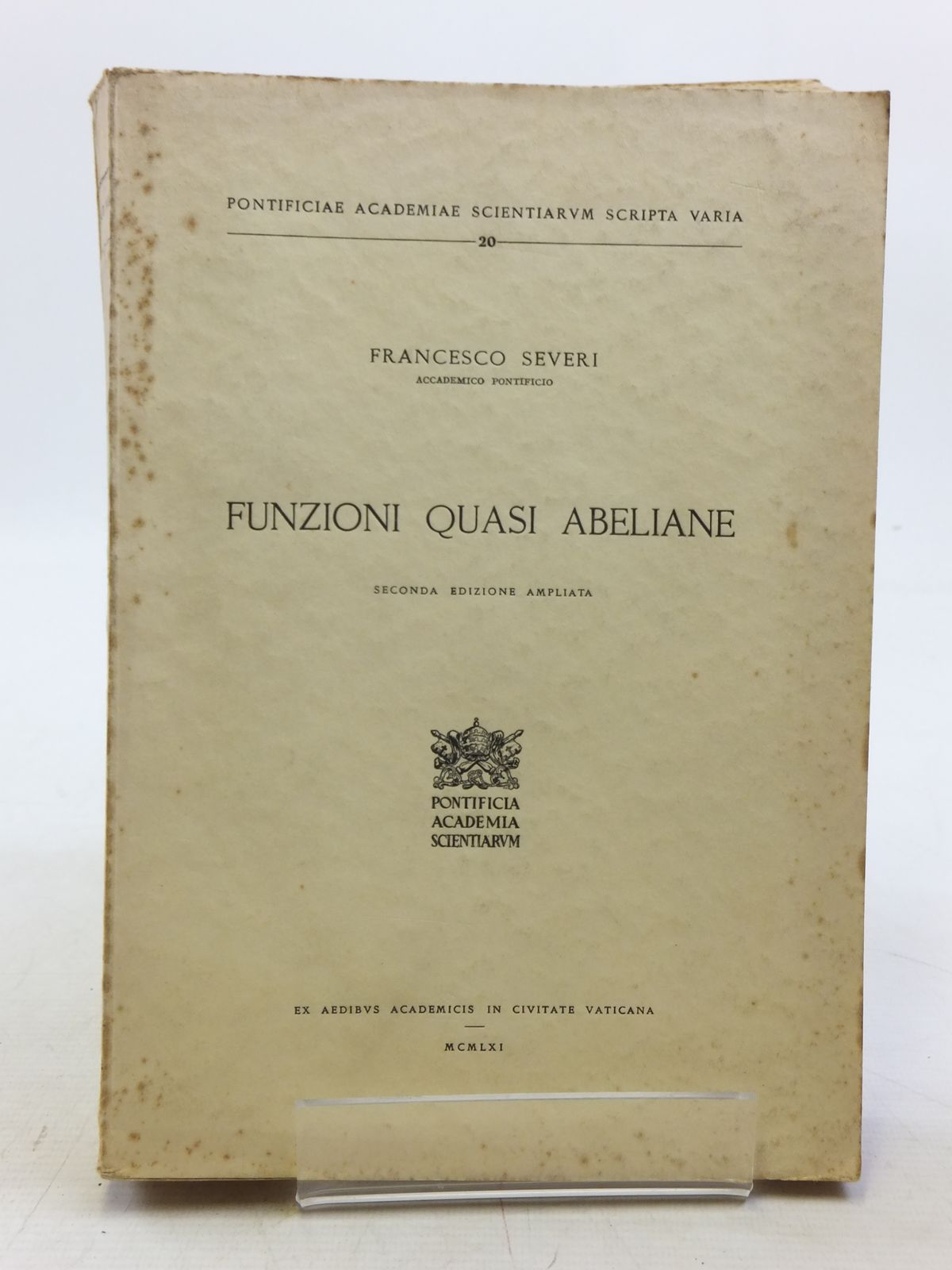 Photo of FUNZIONI QUASI ABELIANE written by Severi, Francesco published by Pontificia Academia Scientiarum (STOCK CODE: 2119916)  for sale by Stella & Rose's Books