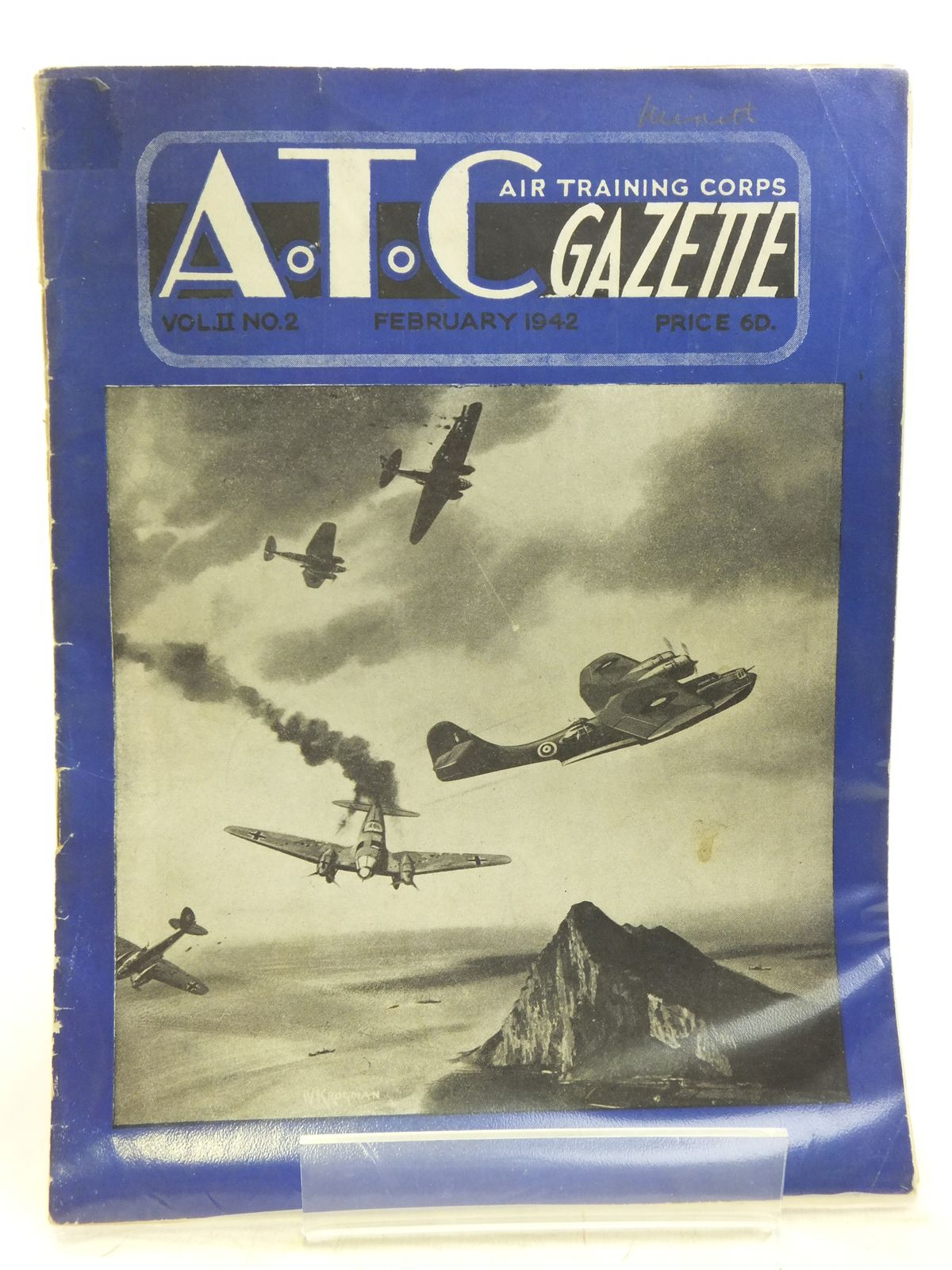 Photo of AIR TRAINING CORPS GAZETTE VOL. II No. 2 FEBRUARY 1942 written by Johns, W.E.<br />et al, published by The Air League Of The British Empire (STOCK CODE: 2119957)  for sale by Stella & Rose's Books