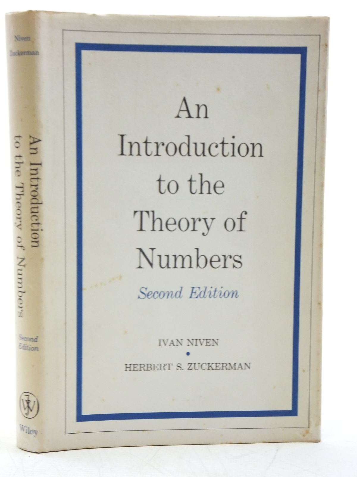 Photo of AN INTRODUCTION TO THE THEORY OF NUMBERS written by Niven, Ivan<br />Zuckerman, Herbert S. published by John Wiley & Sons (STOCK CODE: 2120098)  for sale by Stella & Rose's Books