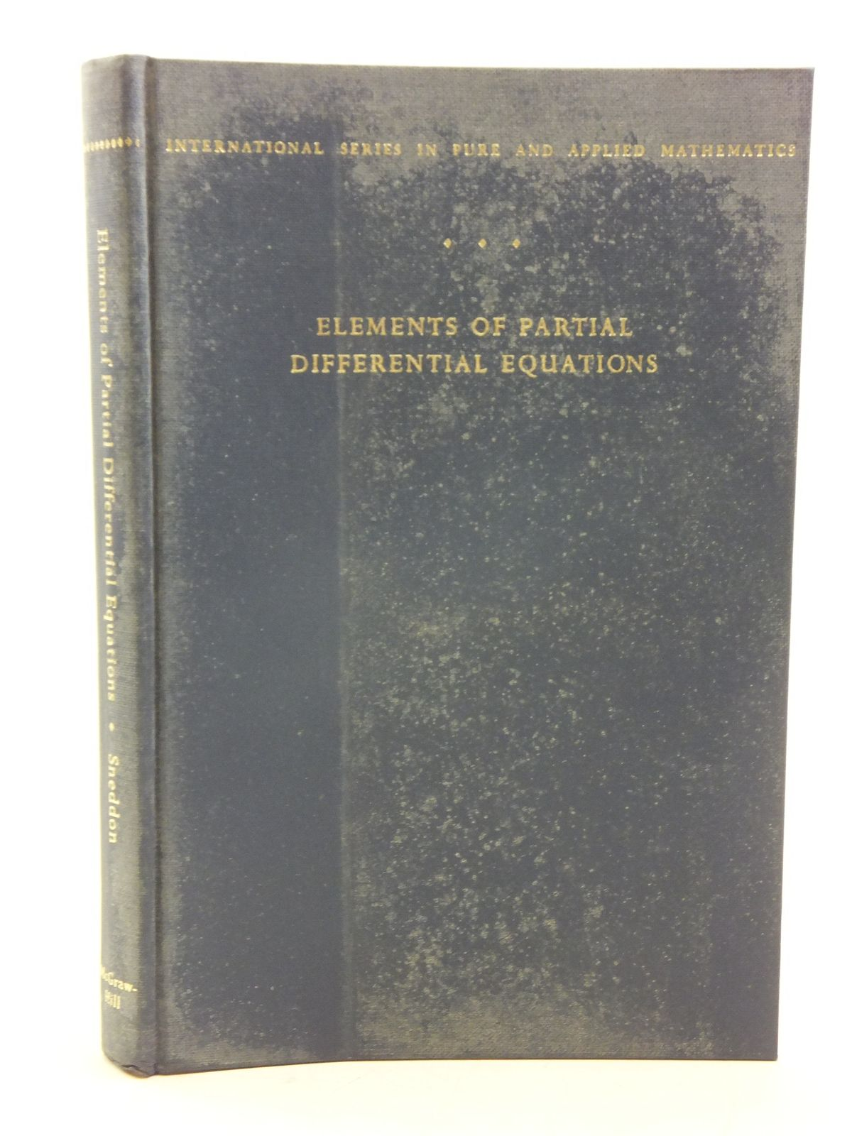 Photo of ELEMENTS OF PARTIAL DIFFERENTIAL EQUATIONS written by Sneddon, Ian N. published by McGraw-Hill Book Company (STOCK CODE: 2120119)  for sale by Stella & Rose's Books