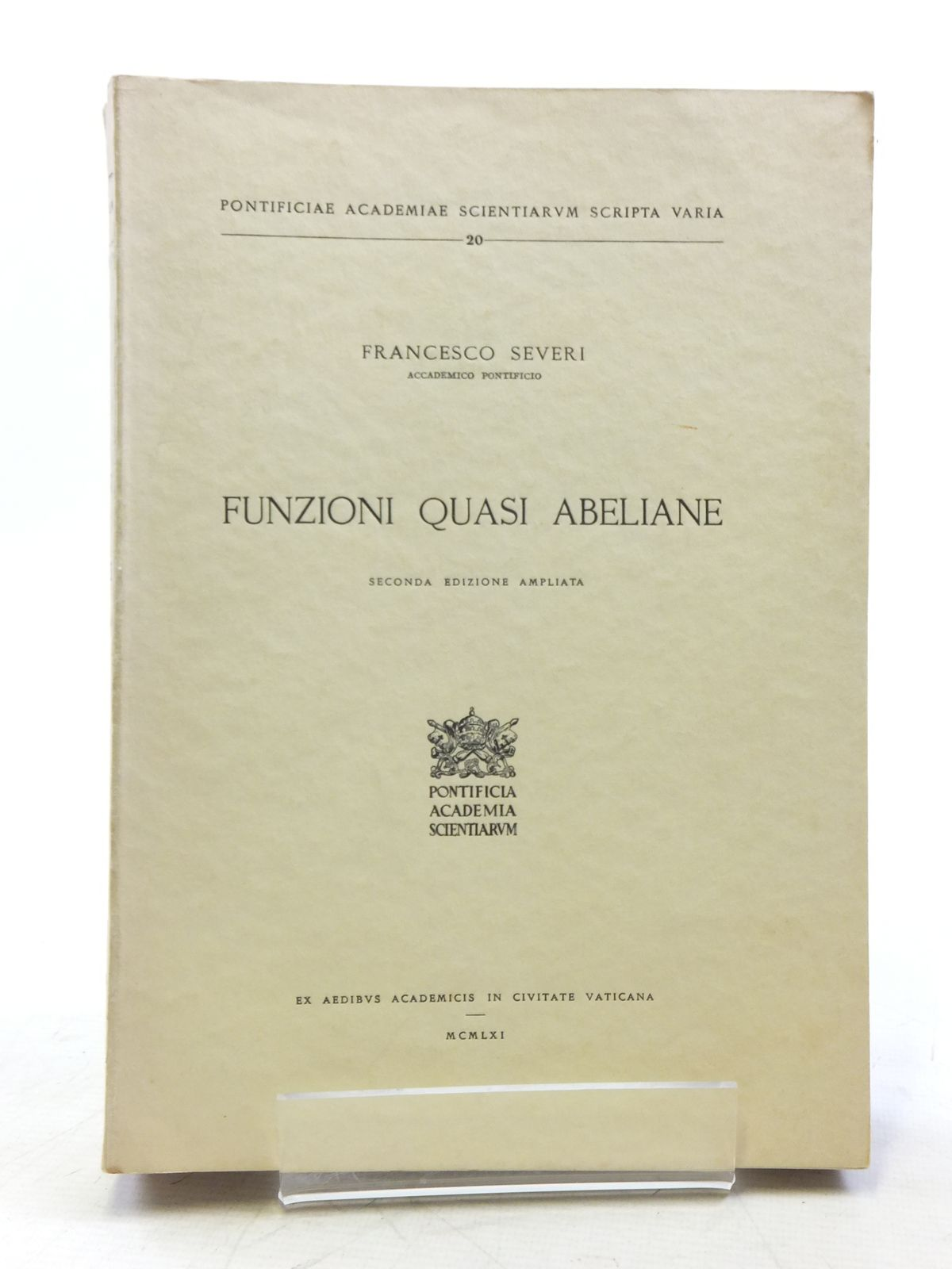 Photo of FUNZIONI QUASI ABELIANE written by Severi, Francesco published by Pontificia Academia Scientiarum (STOCK CODE: 2120122)  for sale by Stella & Rose's Books