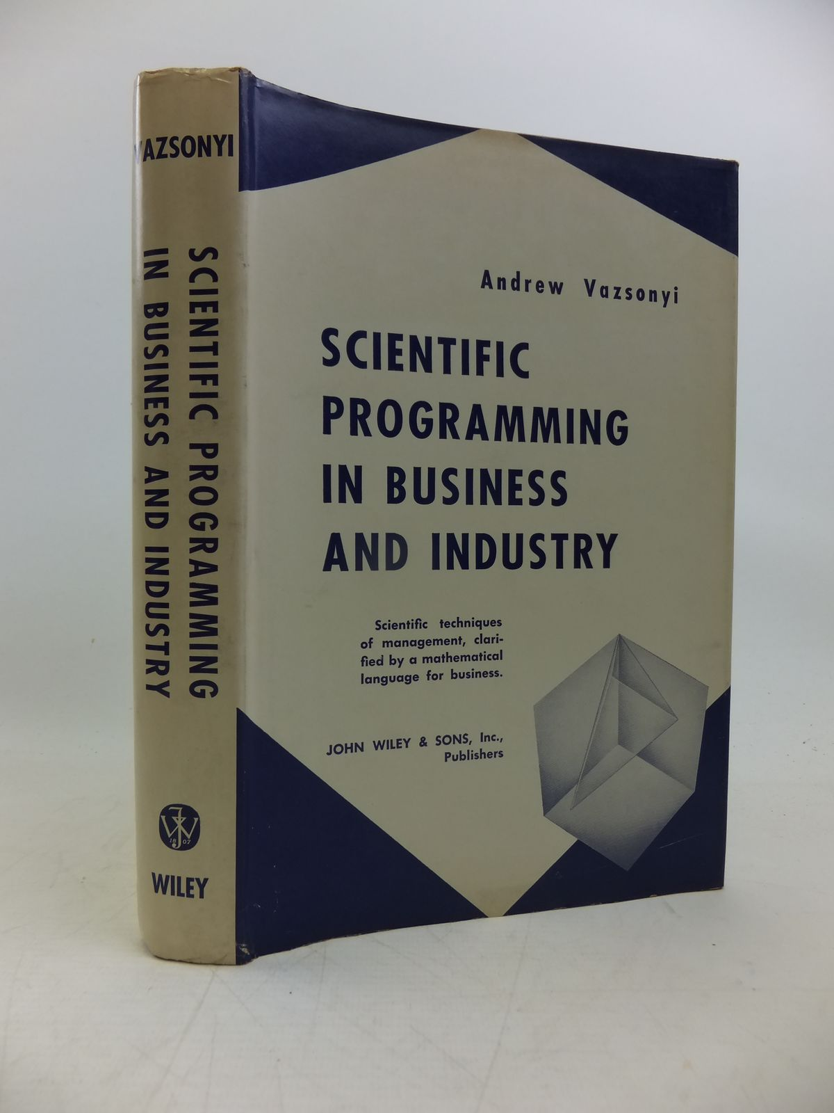 Photo of SCIENTIFIC PROGRAMMING IN BUSINESS AND INDUSTRY written by Vazsonyi, Andrew published by John Wiley & Sons (STOCK CODE: 2120314)  for sale by Stella & Rose's Books