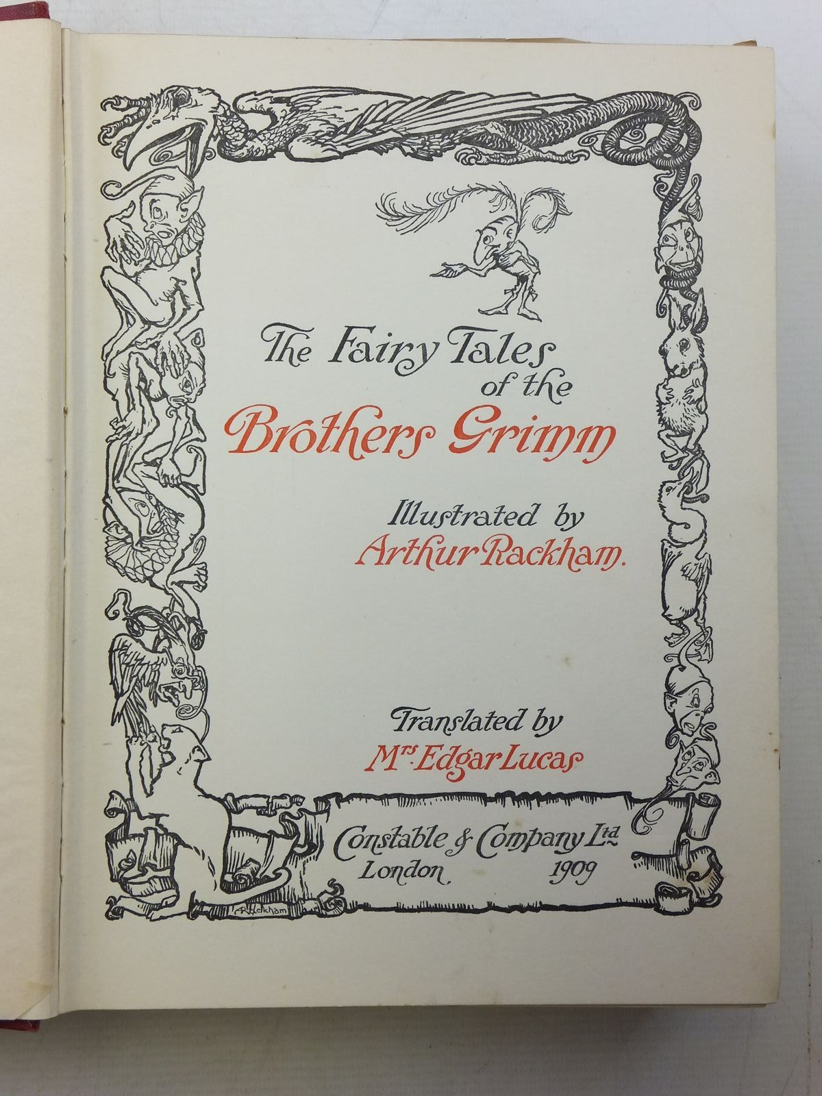 Photo of THE FAIRY TALES OF THE BROTHERS GRIMM written by Grimm, Brothers illustrated by Rackham, Arthur published by Constable and Company Ltd. (STOCK CODE: 2120331)  for sale by Stella & Rose's Books