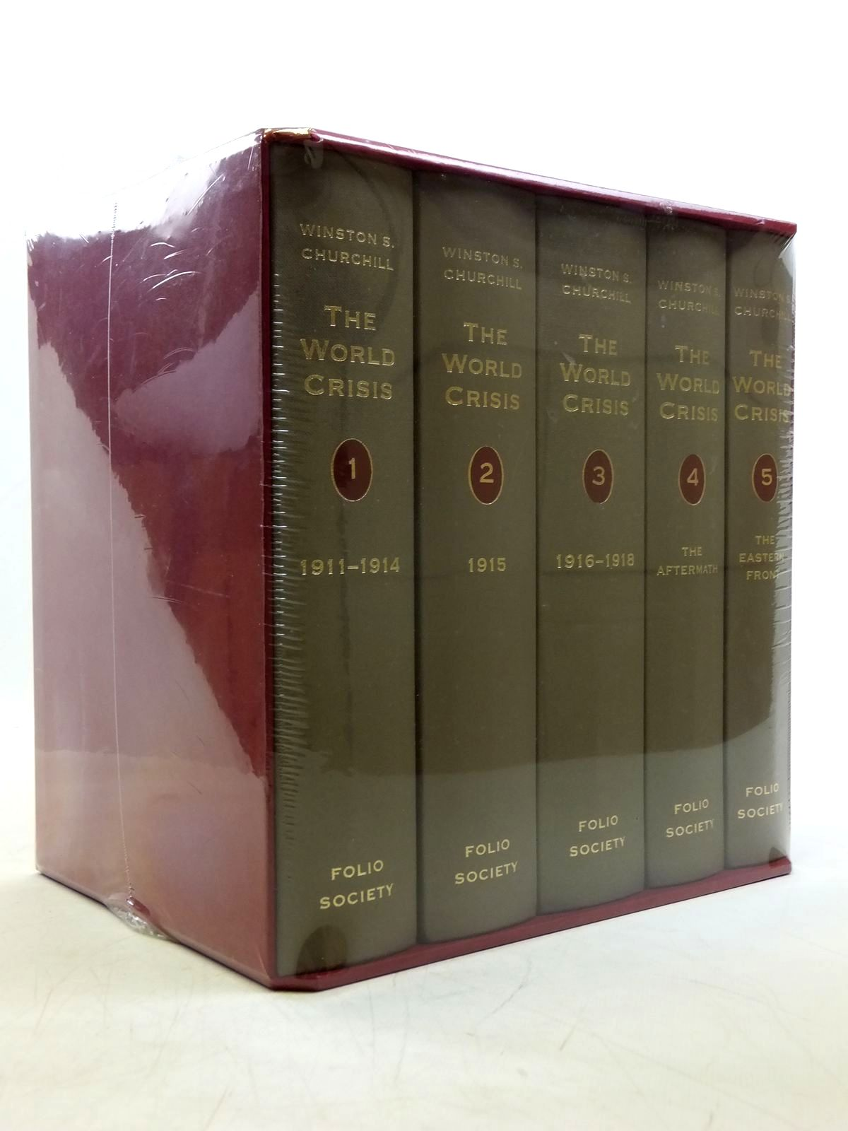 Photo of THE WORLD CRISIS (5 VOLUMES) written by Churchill, Winston S. published by Folio Society (STOCK CODE: 2120340)  for sale by Stella & Rose's Books