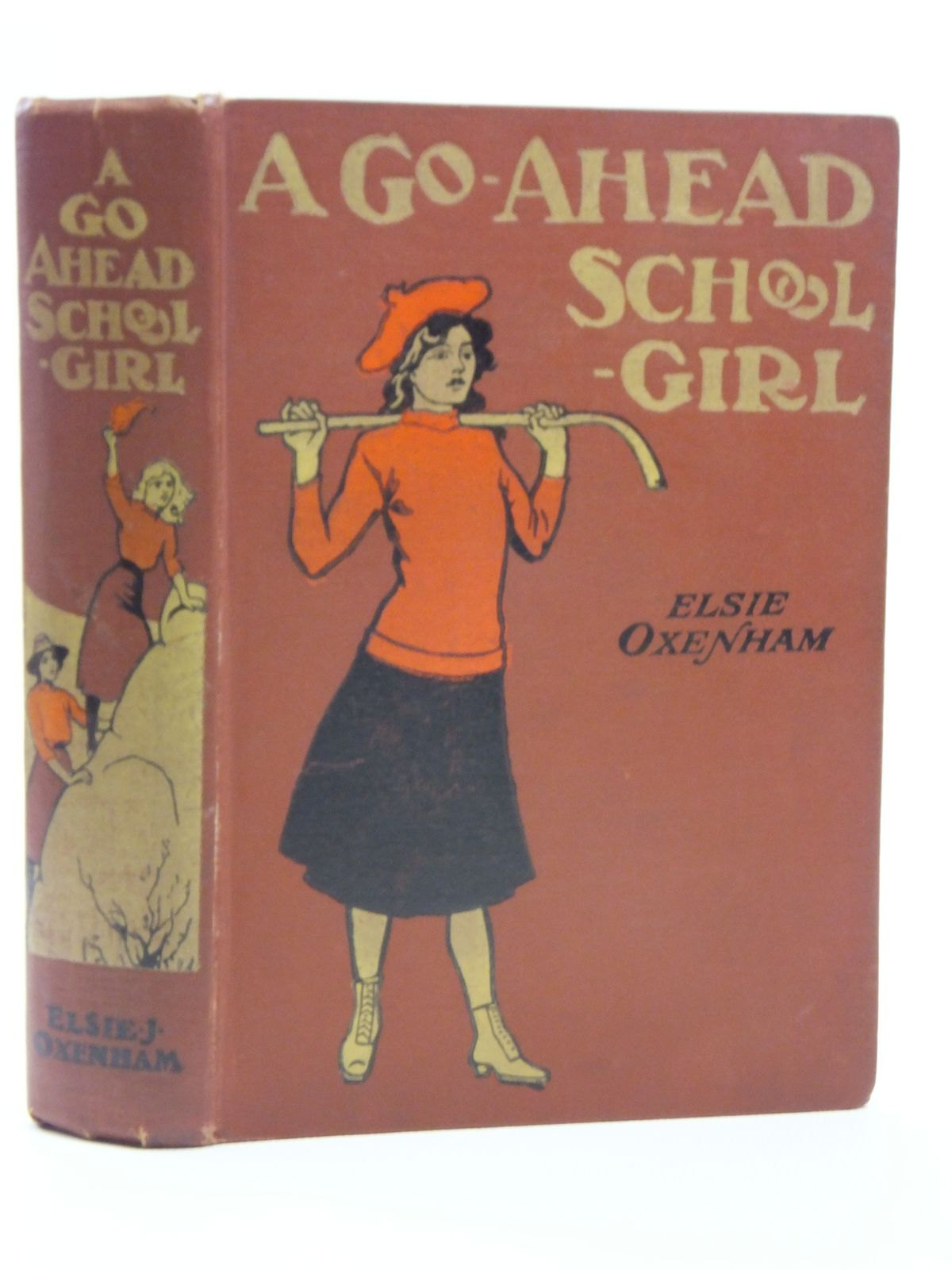 Photo of A GO-AHEAD SCHOOLGIRL written by Oxenham, Elsie J. illustrated by Earnshaw, Harold C. published by W. & R. Chambers Limited (STOCK CODE: 2120690)  for sale by Stella & Rose's Books