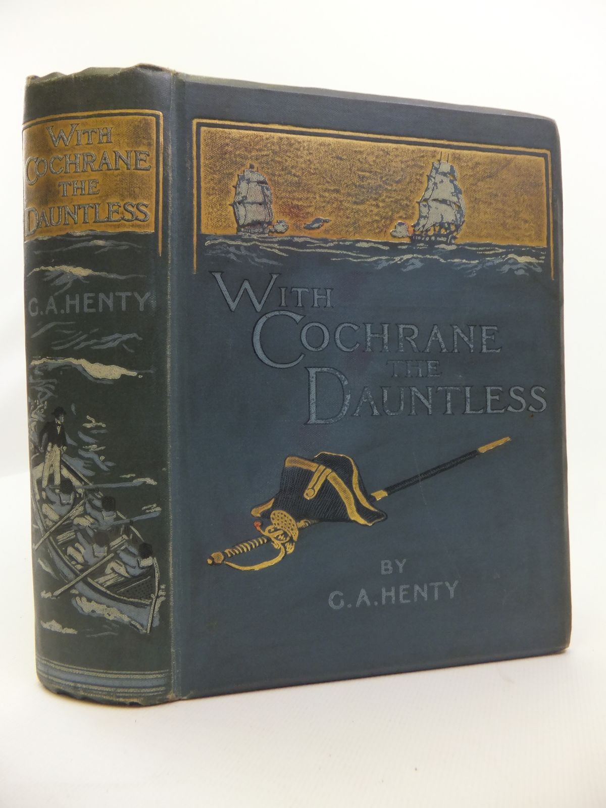 Photo of WITH COCHRANE THE DAUNTLESS written by Henty, G.A. illustrated by Margetson, W.H. published by Blackie & Son Ltd. (STOCK CODE: 2120775)  for sale by Stella & Rose's Books