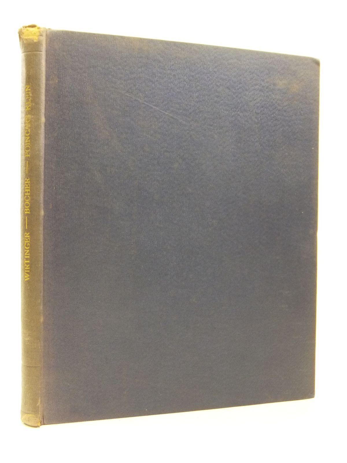 Photo of UNTERSUCHUNGEN UBER THETAFUNCTIONEN: INTRODUCTION TO THE THEORY OF FOURIER'S SERIES: CORRESPONDANCE D'HENRI POINCARE ET DE FELIX KLIEN written by Wirtinger, Wilhelm<br />Bocher, Maxime<br />Poincare, Henri<br />Klein, Felix published by Druck Und Verlag Von B.G. Teubner, Harvard University Press (STOCK CODE: 2120901)  for sale by Stella & Rose's Books