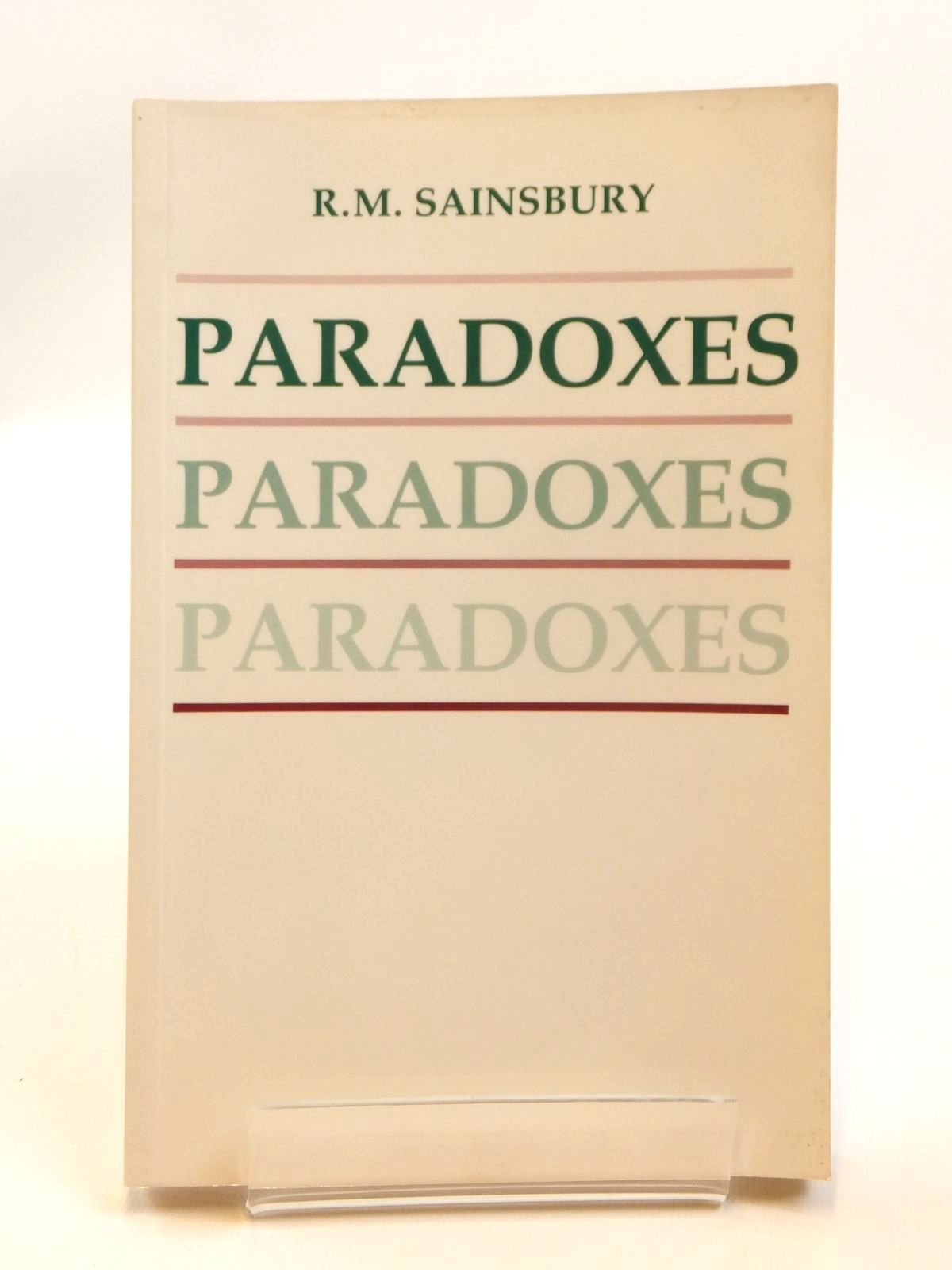 Photo of PARADOXES written by Sainsbury, R.M. published by Cambridge University Press (STOCK CODE: 2121657)  for sale by Stella & Rose's Books