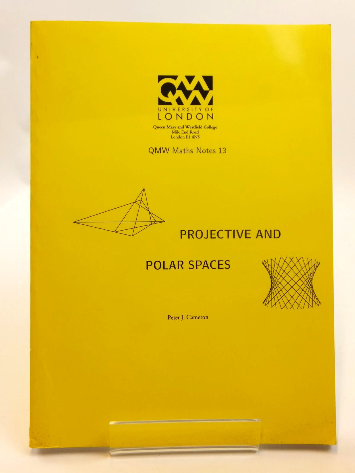 Photo of PROJECTIVE AND POLAR SPACES written by Cameron, Peter J. published by University Of London (STOCK CODE: 2121678)  for sale by Stella & Rose's Books