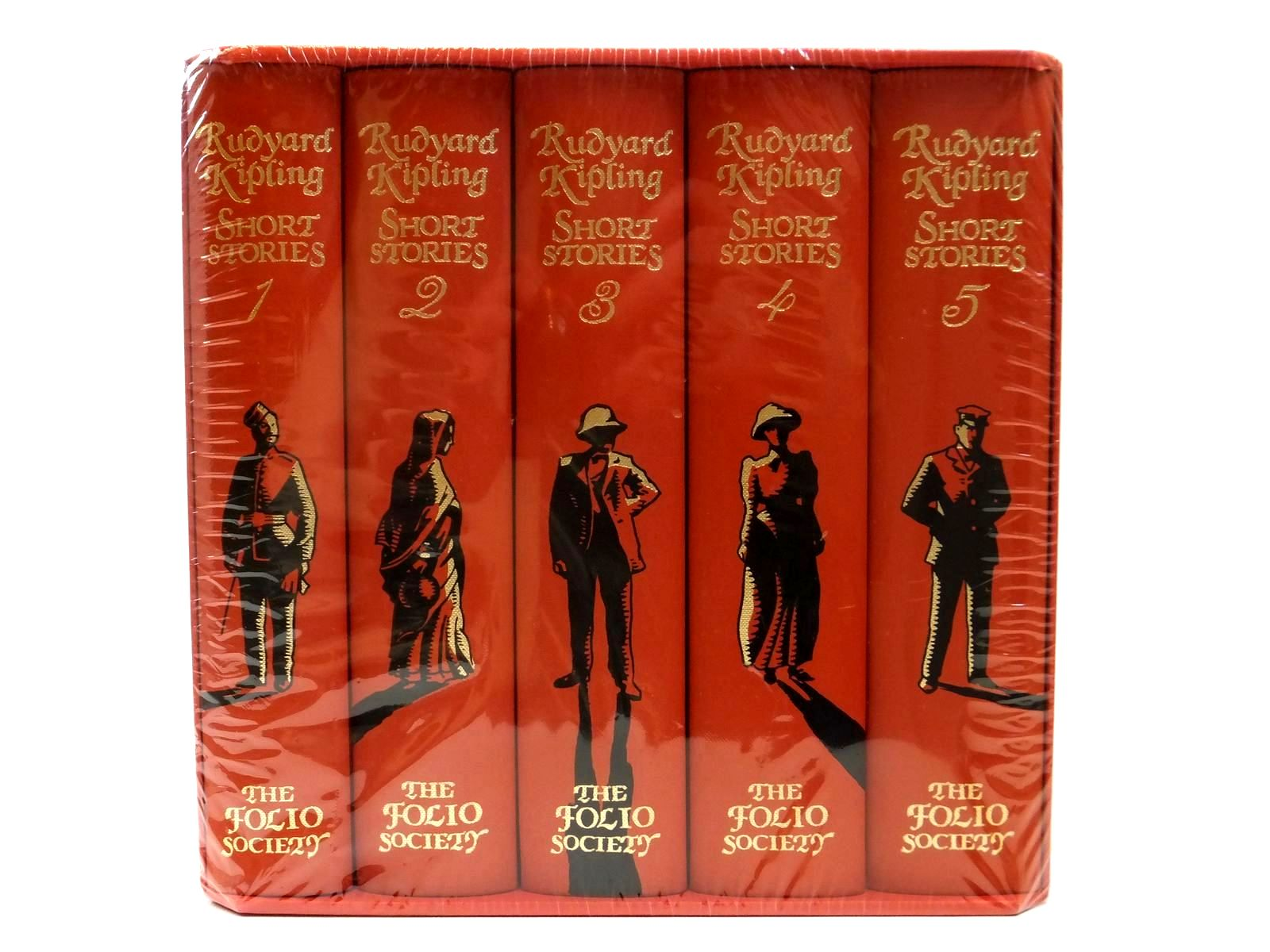 Photo of RUDYARD KIPLING COLLECTED SHORT STORIES (5 VOLUMES) written by Kipling, Rudyard illustrated by Bannister, Philip published by Folio Society (STOCK CODE: 2121854)  for sale by Stella & Rose's Books