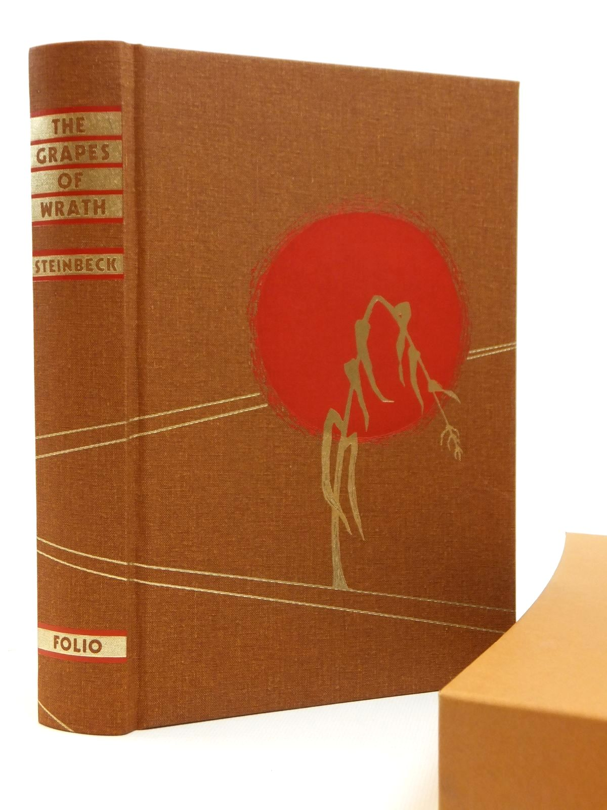 Photo of THE GRAPES OF WRATH written by Steinbeck, John illustrated by Christensen, Bonnie published by Folio Society (STOCK CODE: 2121909)  for sale by Stella & Rose's Books