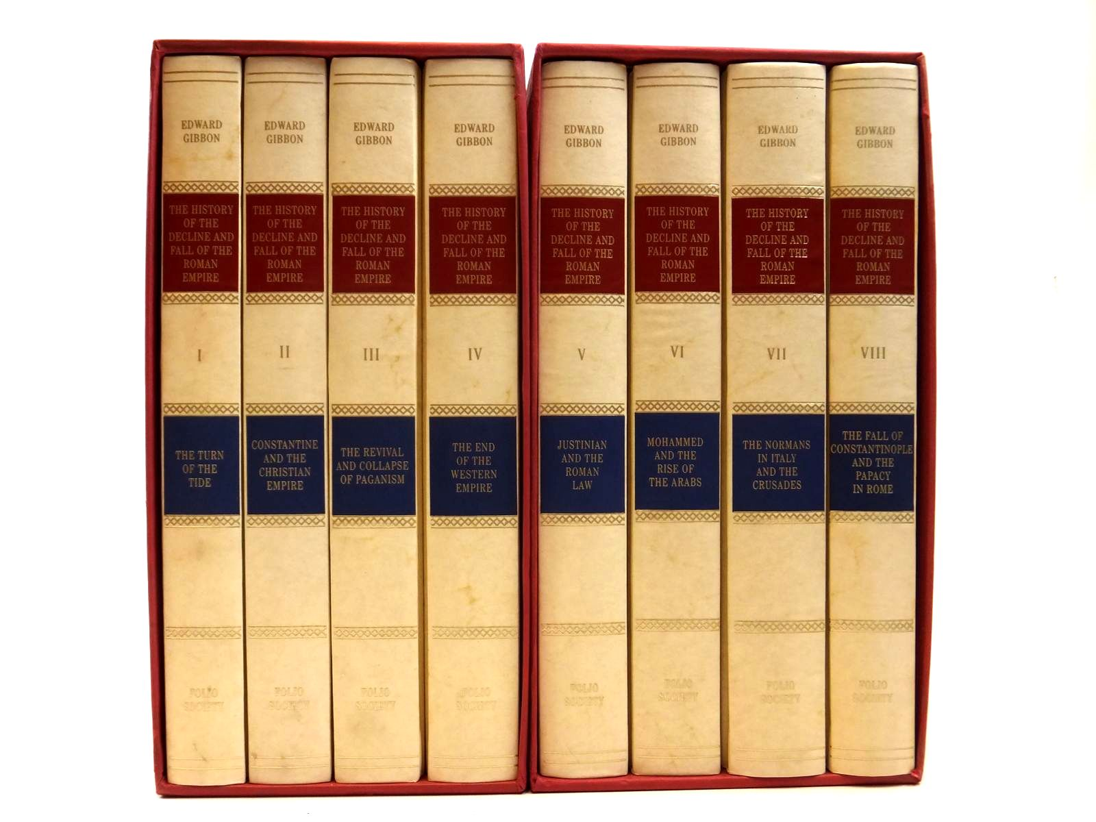 Photo of THE HISTORY OF THE DECLINE AND FALL OF THE ROMAN EMPIRE (8 VOLUMES) written by Gibbon, Edward published by Folio Society (STOCK CODE: 2121926)  for sale by Stella & Rose's Books