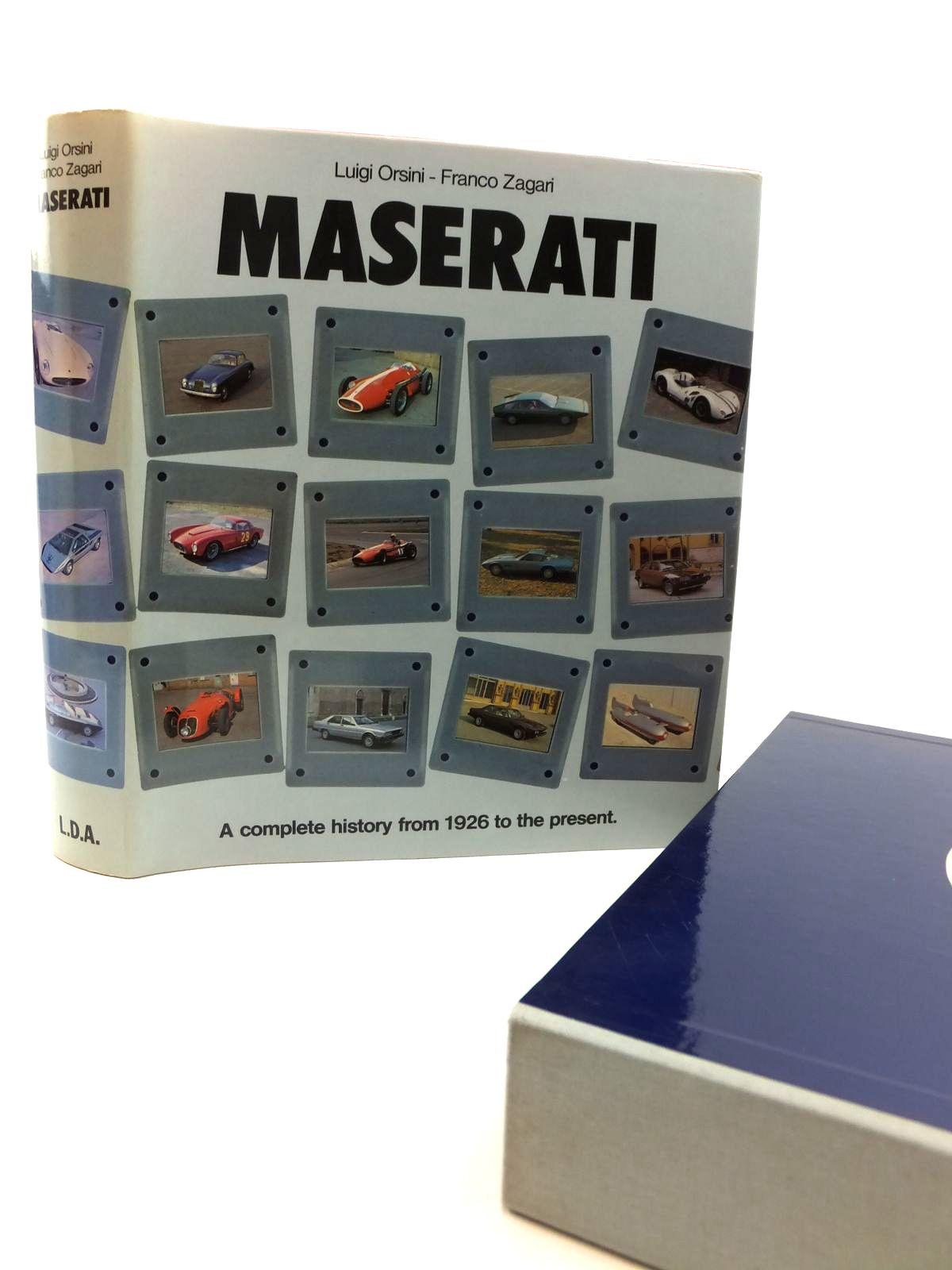 Photo of MASERATI written by Orsini, Luigi<br />Zagari, Franco published by Libreria Dell'Automobile (STOCK CODE: 2122261)  for sale by Stella & Rose's Books