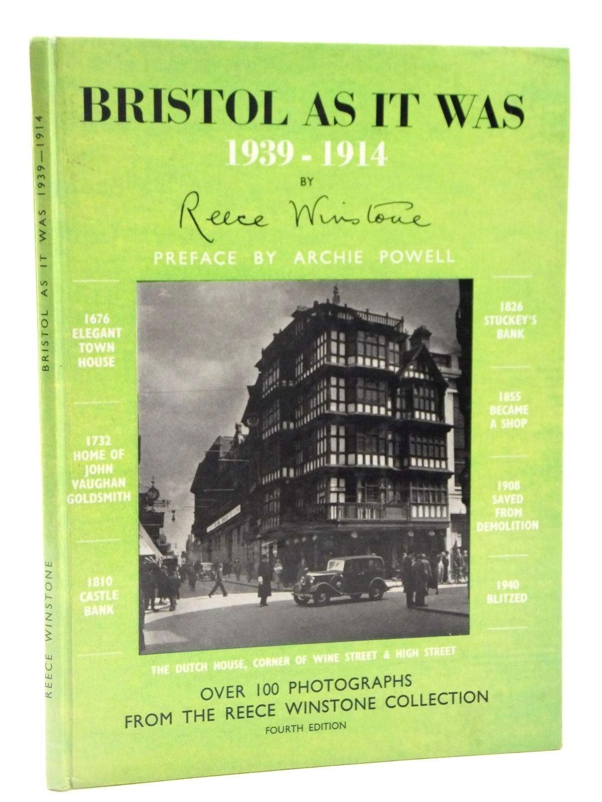 Photo of BRISTOL AS IT WAS 1939-1914 written by Winstone, Reece published by Reece Winstone (STOCK CODE: 2122530)  for sale by Stella & Rose's Books