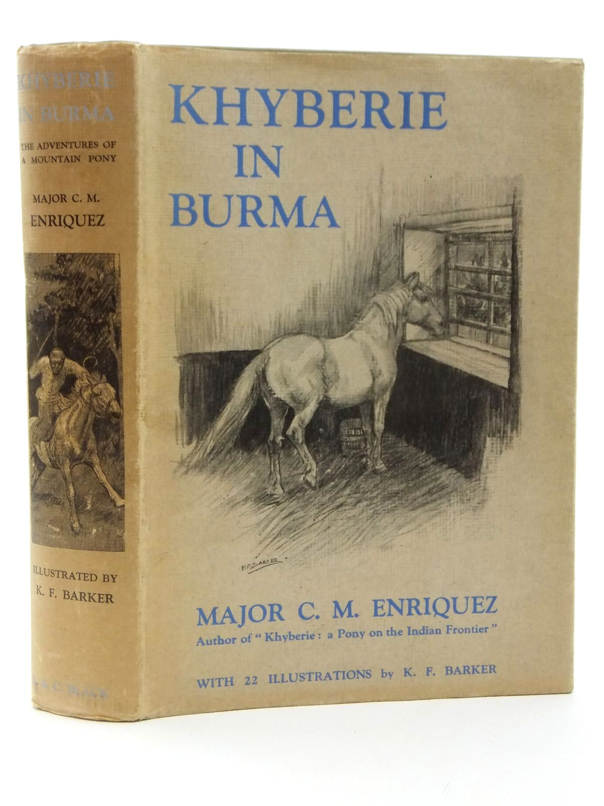 Photo of KHYBERIE IN BURMA written by Enriquez, C.M. illustrated by Barker, K.F. published by A. & C. Black Ltd. (STOCK CODE: 2122687)  for sale by Stella & Rose's Books