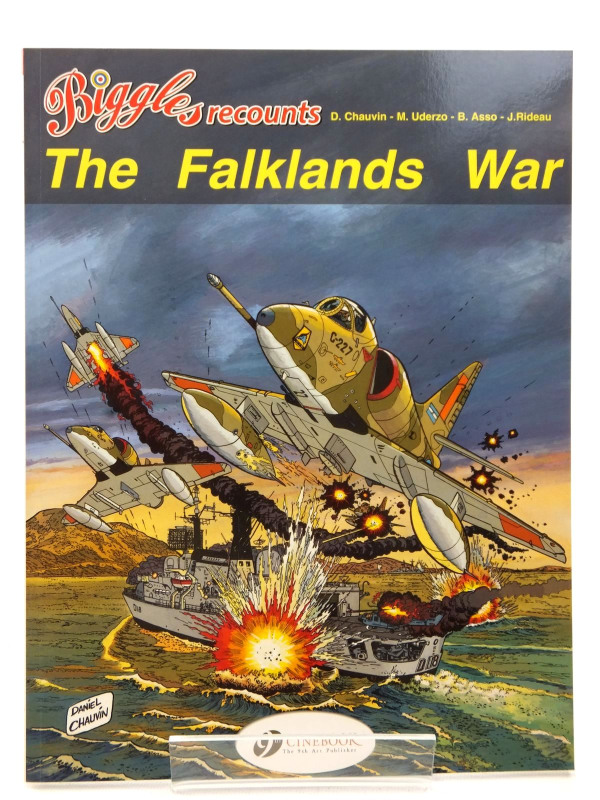 Photo of BIGGLES RECOUNTS THE FALKLANDS WAR written by Asso, Bernard<br />Rideau, Joel illustrated by Chauvin, Daniel<br />Uderzo, Marcel published by Cinebook Ltd (STOCK CODE: 2123155)  for sale by Stella & Rose's Books