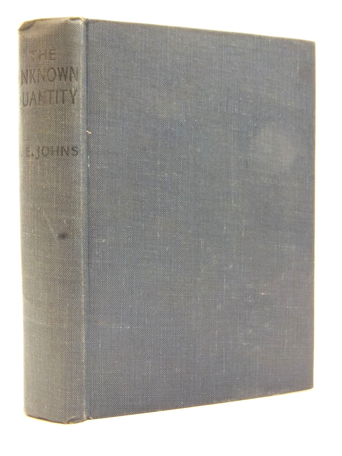 Photo of THE UNKNOWN QUANTITY written by Johns, W.E. published by John Hamilton (STOCK CODE: 2123167)  for sale by Stella & Rose's Books