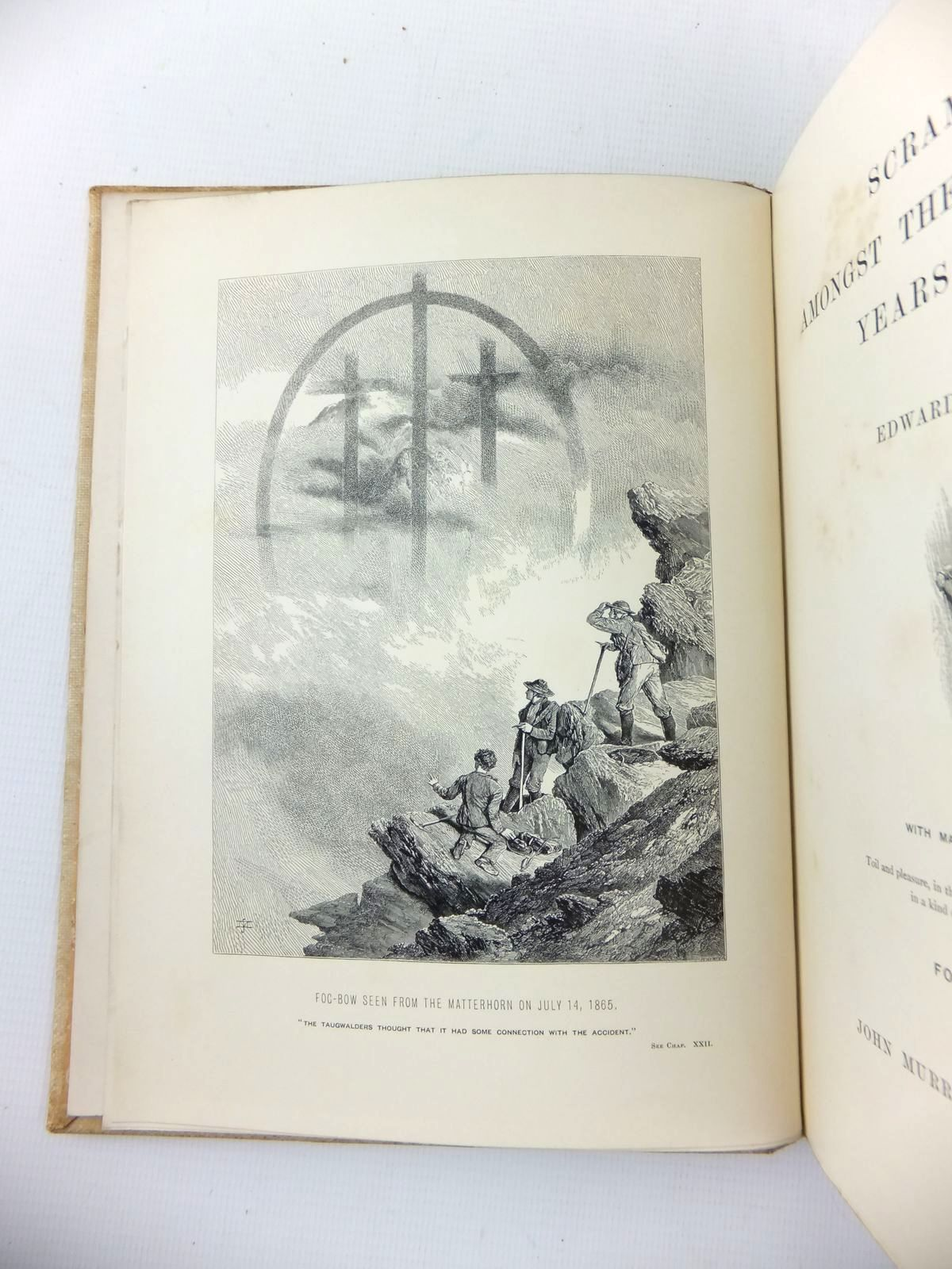Photo of SCRAMBLES AMONGST THE ALPS IN THE YEARS 1860-69 written by Whymper, Edward published by John Murray (STOCK CODE: 2123310)  for sale by Stella & Rose's Books