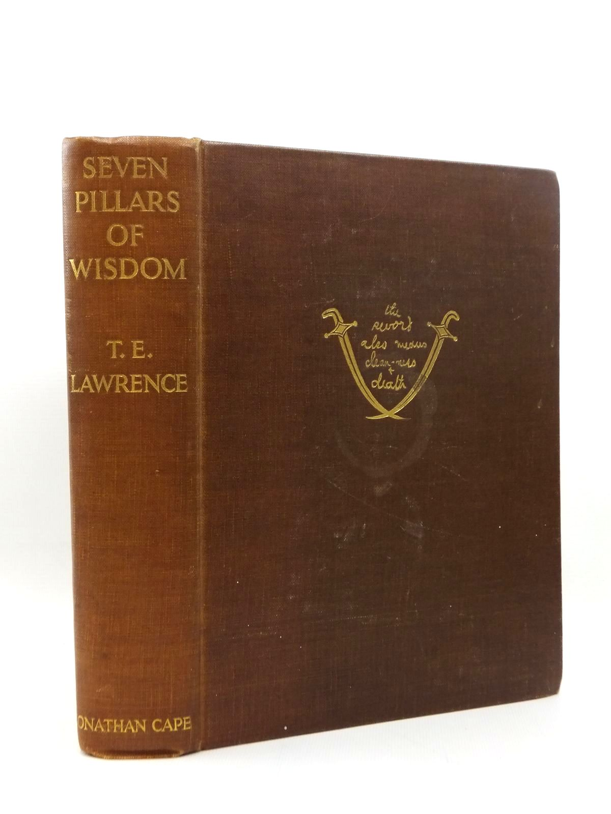 Photo of SEVEN PILLARS OF WISDOM written by Lawrence, T.E. published by Jonathan Cape (STOCK CODE: 2123412)  for sale by Stella & Rose's Books