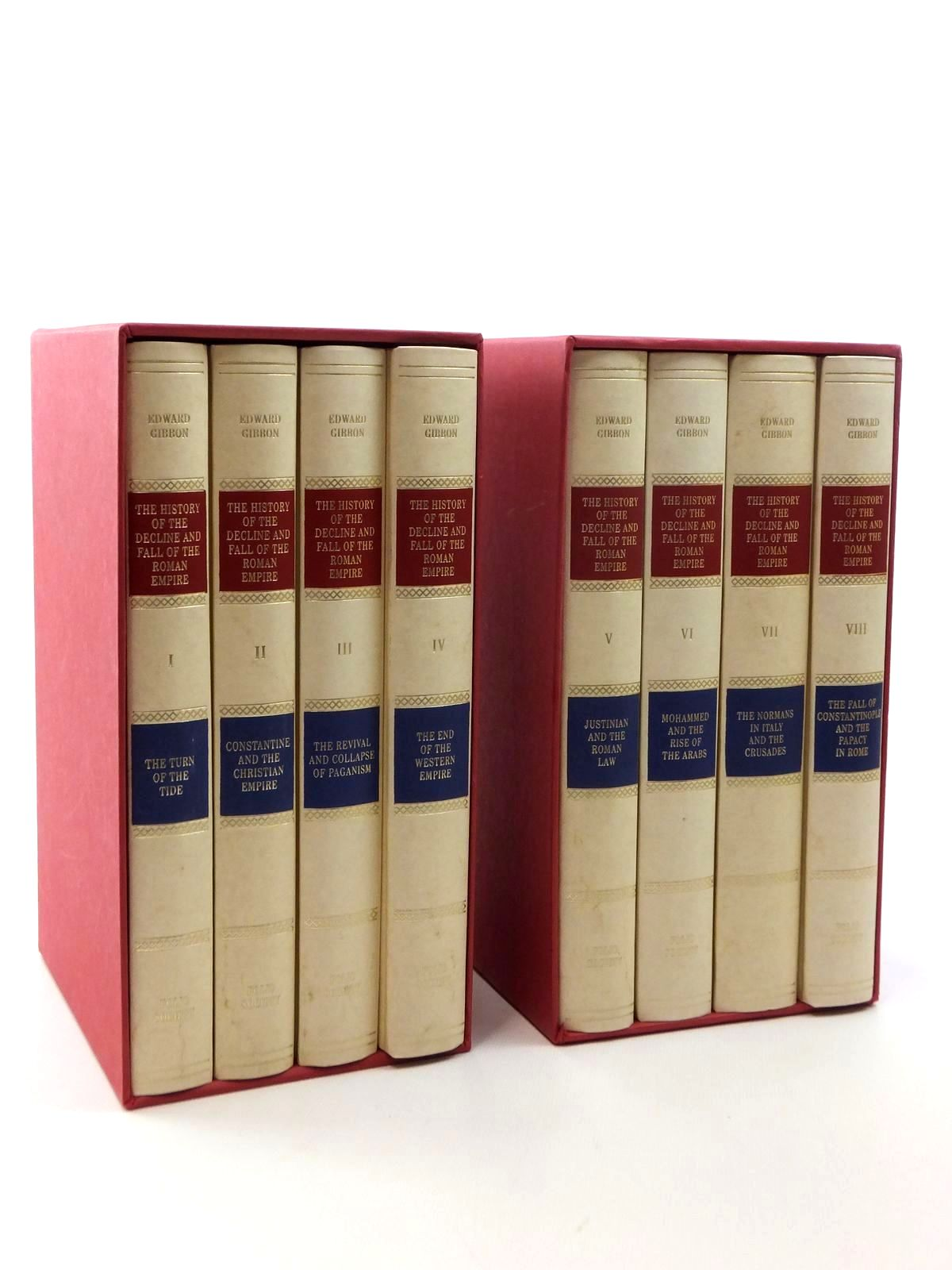 Photo of THE HISTORY OF THE DECLINE AND FALL OF THE ROMAN EMPIRE (8 VOLUMES) written by Gibbon, Edward published by Folio Society (STOCK CODE: 2123435)  for sale by Stella & Rose's Books