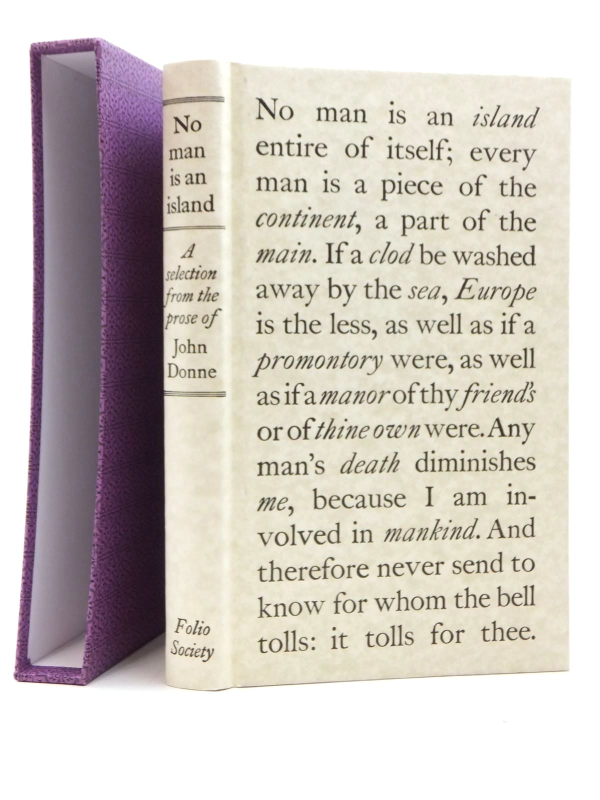 Photo of NO MAN IS AN ISLAND written by Donne, John<br />Scott, Rivers published by Folio Society (STOCK CODE: 2123487)  for sale by Stella & Rose's Books