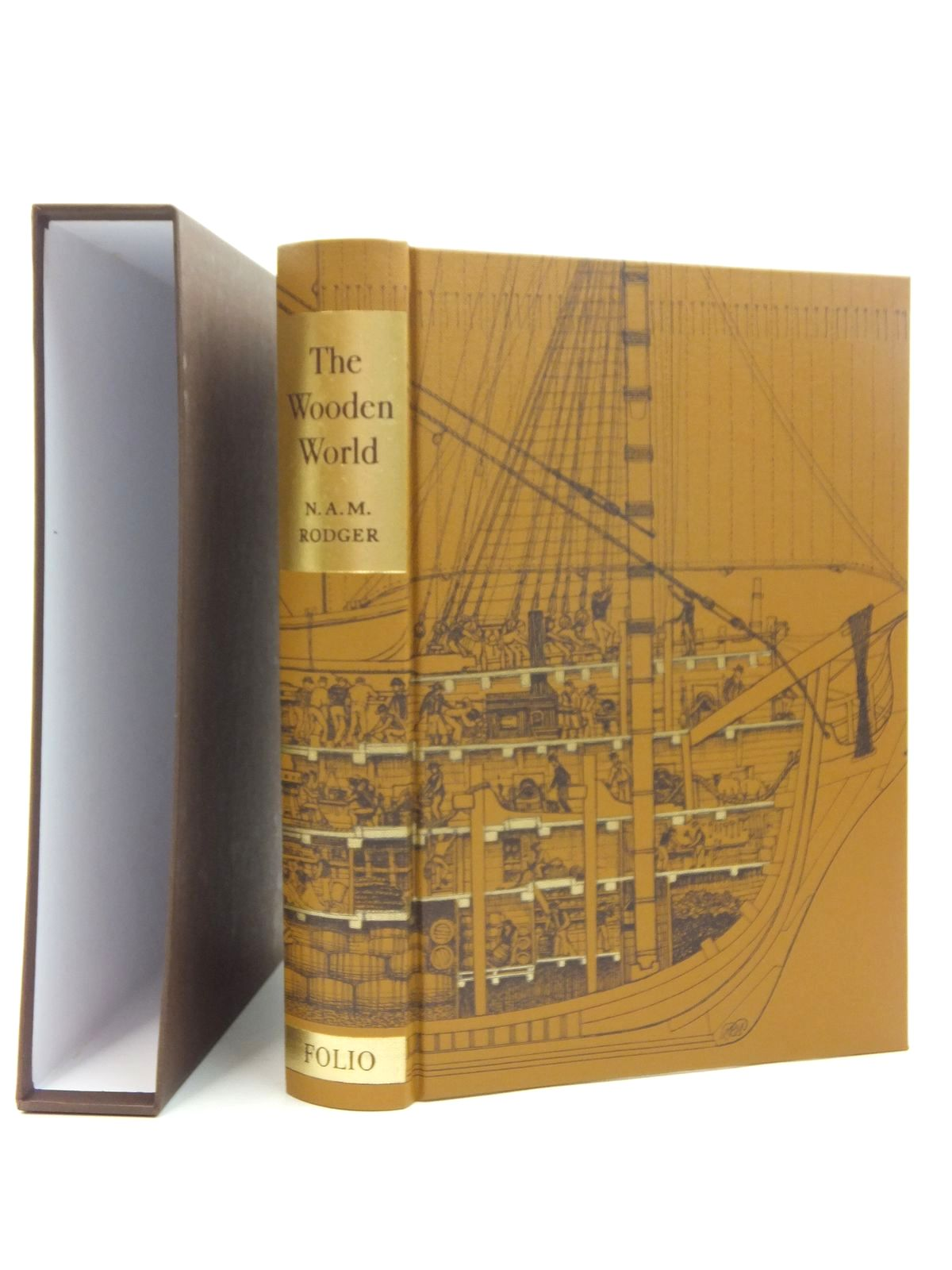 Photo of THE WOODEN WORLD AN ANATOMY OF THE GEORGIAN NAVY written by Rodger, N.A.M. published by Folio Society (STOCK CODE: 2123505)  for sale by Stella & Rose's Books