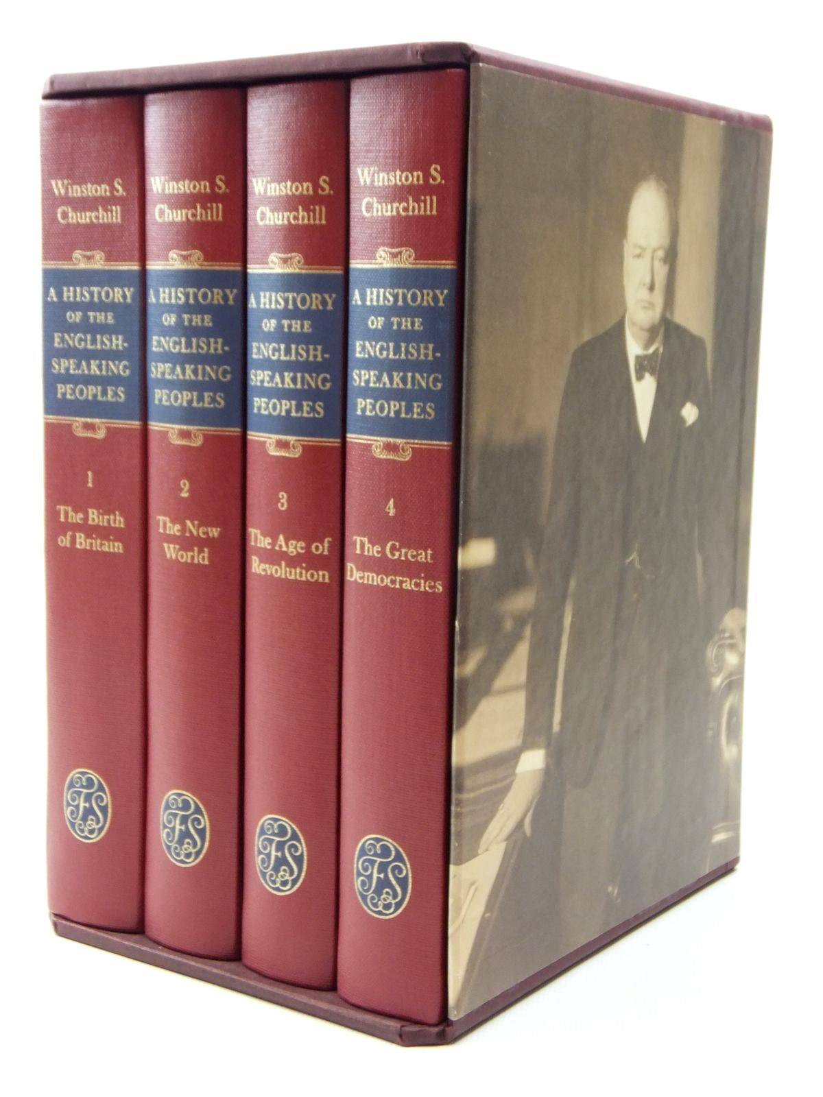 Photo of A HISTORY OF THE ENGLISH SPEAKING PEOPLES (4 VOLUMES) written by Churchill, Winston S. published by Folio Society (STOCK CODE: 2123632)  for sale by Stella & Rose's Books