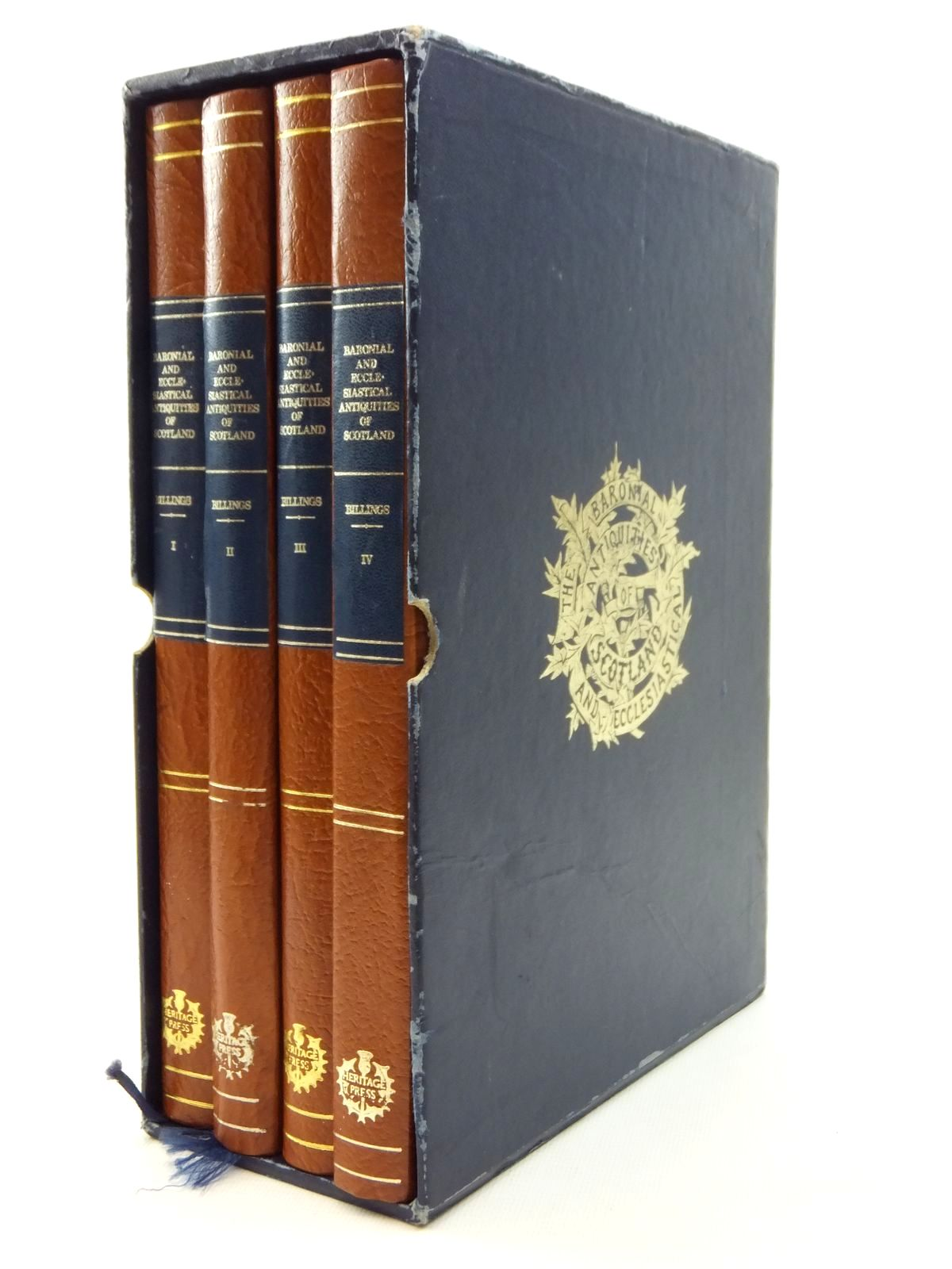 Photo of THE BARONIAL AND ECCLESIASTICAL ANTIQUITIES OF SCOTLAND 1852 (4 VOLUMES) written by Billings, Robert William published by Heritage Press (scotland) (STOCK CODE: 2123633)  for sale by Stella & Rose's Books