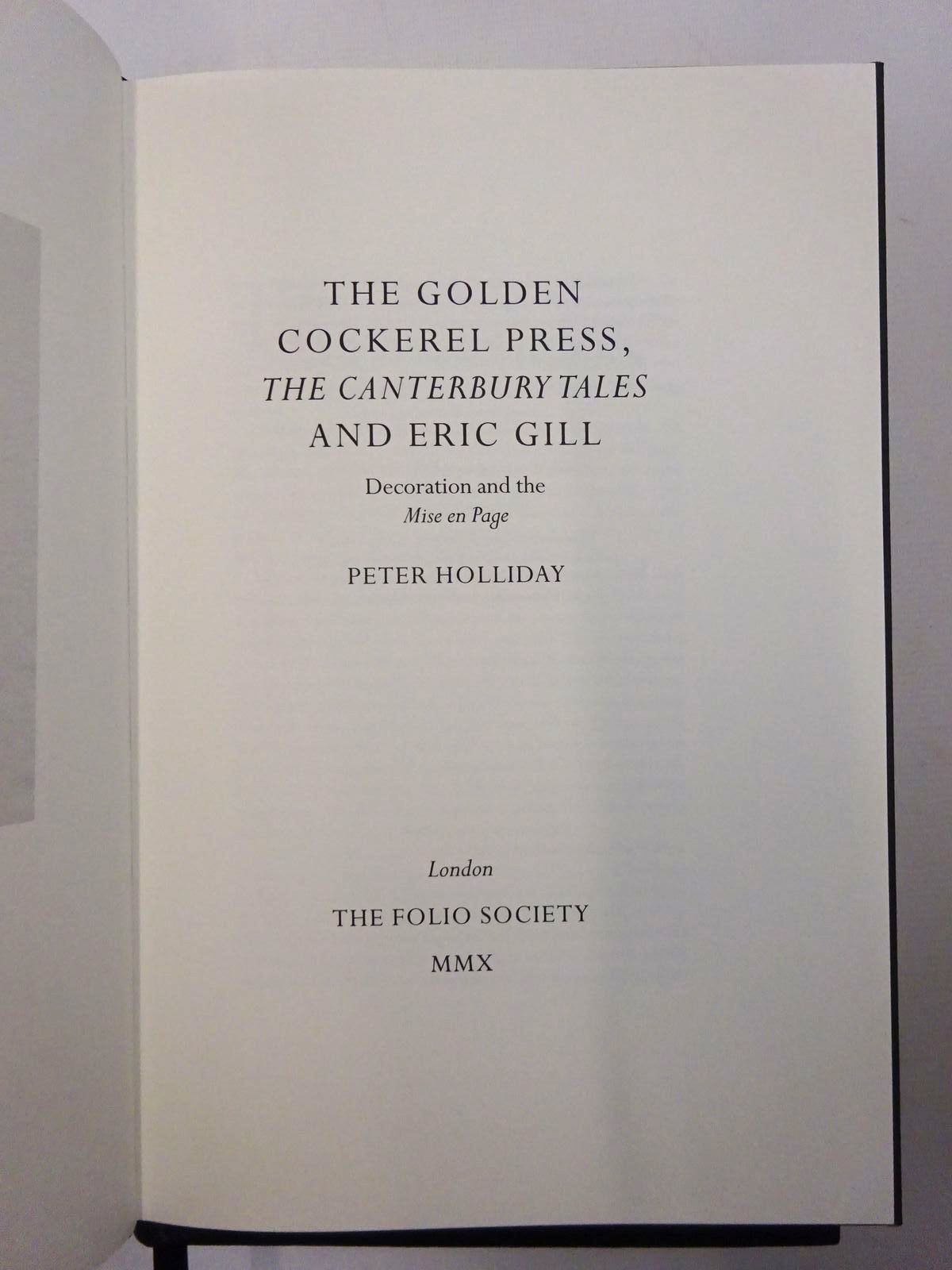 Photo of THE CANTERBURY TALES written by Chaucer, Geoffrey<br />Holliday, Peter illustrated by Gill, Eric published by Folio Society, The Golden Cockerel Press (STOCK CODE: 2124512)  for sale by Stella & Rose's Books