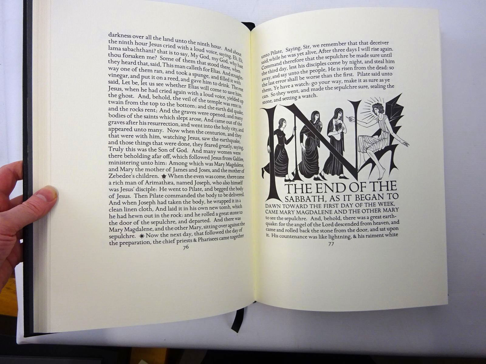 Photo of THE FOUR GOSPELS OF THE LORD JESUS CHRIST written by Dreyfus, John<br />Gibbings, Robert illustrated by Gill, Eric published by Folio Society, The Golden Cockerel Press (STOCK CODE: 2124513)  for sale by Stella & Rose's Books