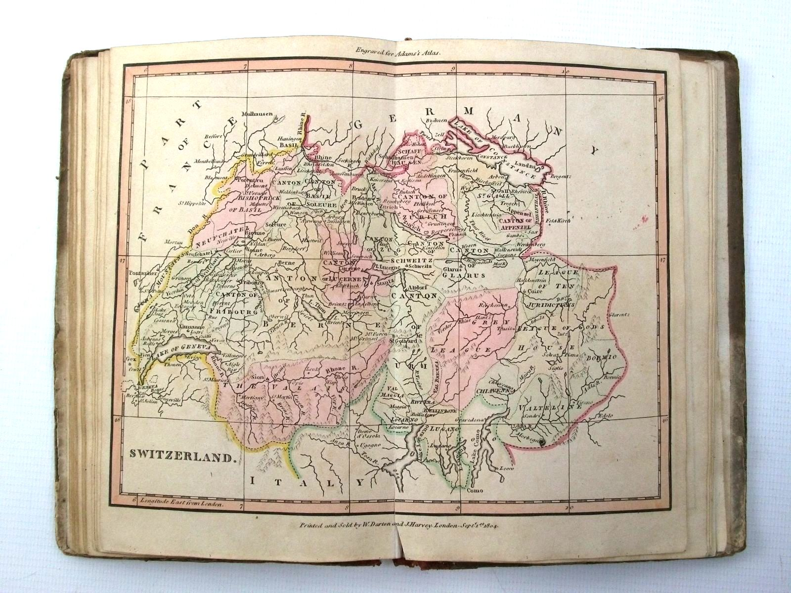 Photo of THE YOUNG LADY'S AND GENTLEMAN'S ATLAS, FOR ASSISTING THEM IN THE KNOWLEDGE OF GEOGRAPHY written by Adams, John published by Darton, Harvey, and Darton (STOCK CODE: 2124722)  for sale by Stella & Rose's Books