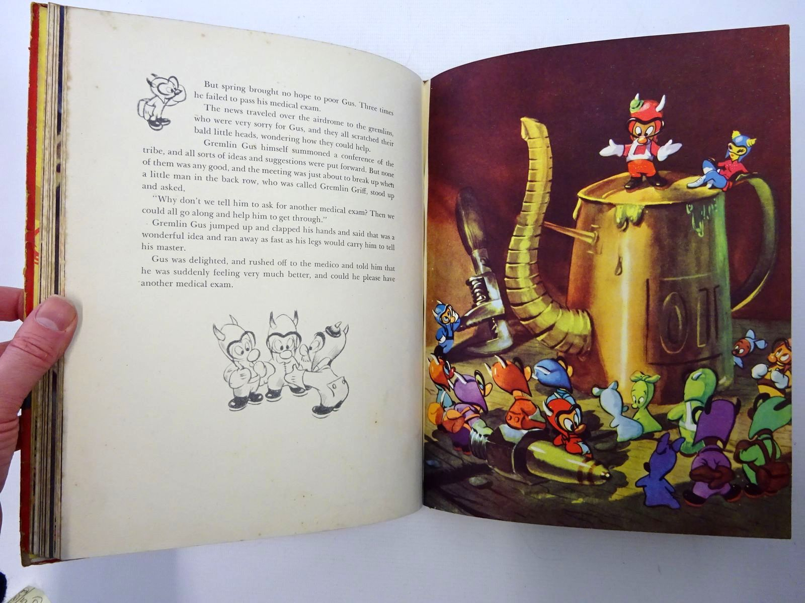 Photo of THE GREMLINS written by Dahl, Roald illustrated by Disney, Walt published by Collins (STOCK CODE: 2124949)  for sale by Stella & Rose's Books