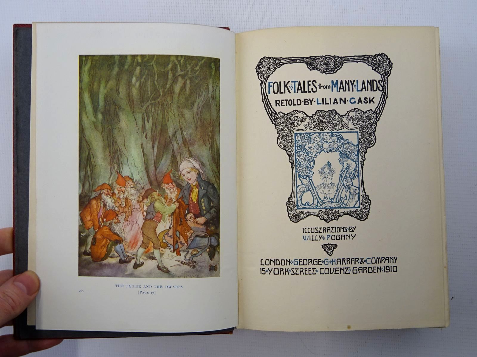 Photo of FOLK TALES FROM MANY LANDS written by Gask, Lilian illustrated by Pogany, Willy published by George G. Harrap & Co. Ltd. (STOCK CODE: 2125347)  for sale by Stella & Rose's Books