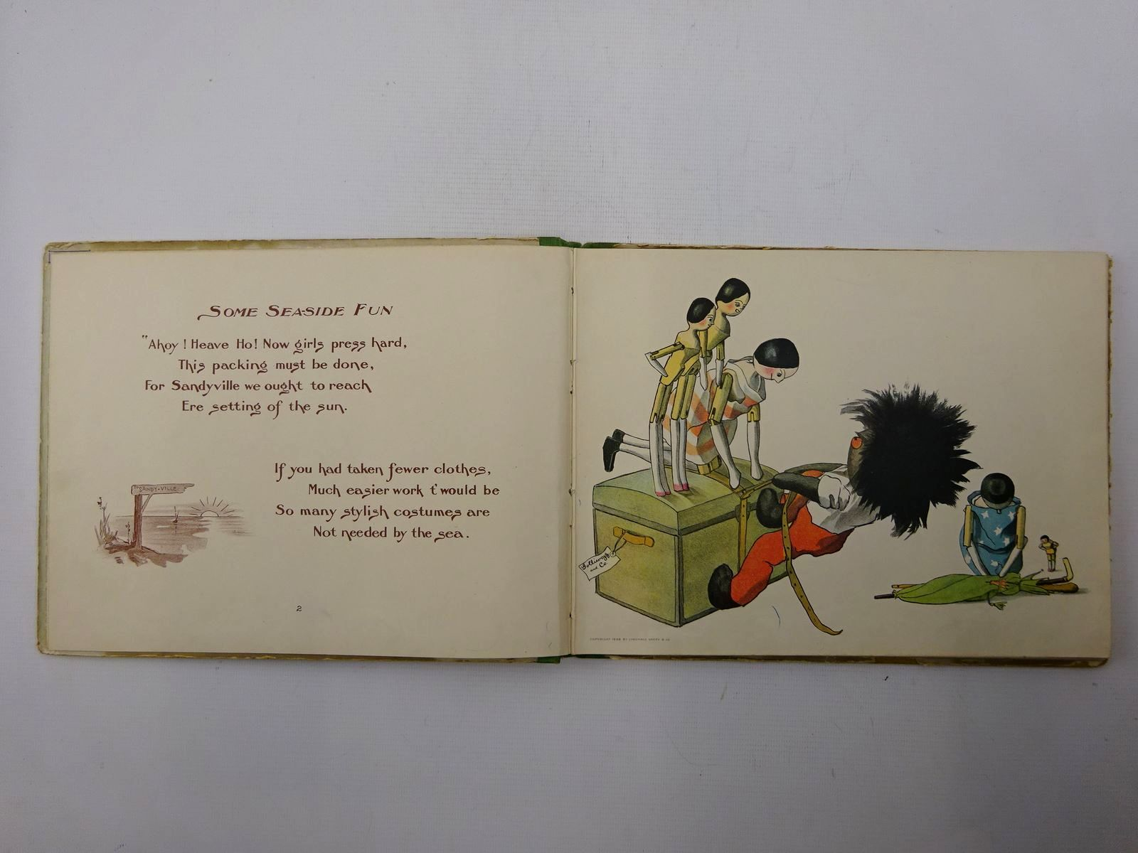 Photo of THE GOLLIWOGG AT THE SEA-SIDE written by Upton, Bertha illustrated by Upton, Florence published by Longmans, Green & Co. (STOCK CODE: 2125350)  for sale by Stella & Rose's Books