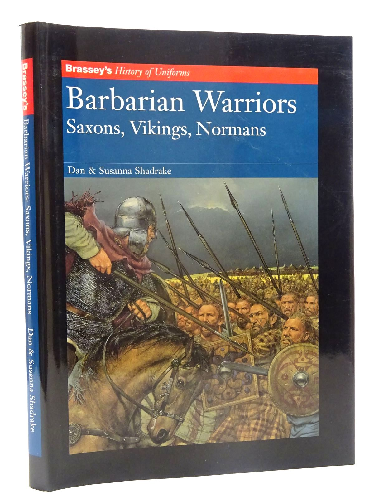 Photo of BARBARIAN WARRIORS SAXONS, VIKINGS, NORMANS written by Shadrake, Dan<br />Shadrake, Susanna illustrated by Hook, Richard published by Brassey's (STOCK CODE: 2125466)  for sale by Stella & Rose's Books