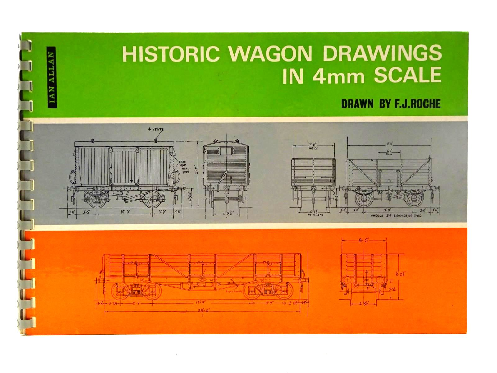 Photo of HISTORIC WAGON DRAWINGS IN 4MM SCALE illustrated by Roche, F.J. published by Ian Allan (STOCK CODE: 2125634)  for sale by Stella & Rose's Books