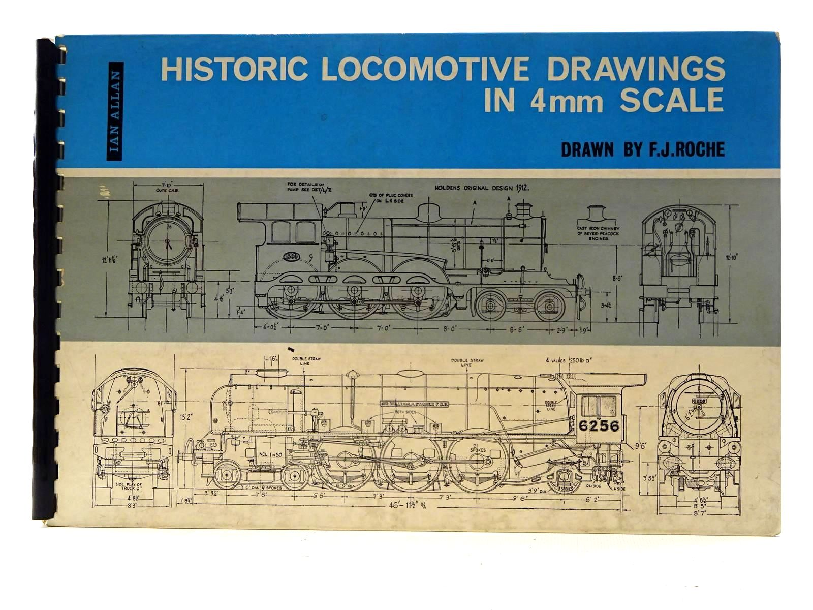 Photo of HISTORIC LOCOMOTIVE DRAWINGS IN 4MM SCALE written by Roche, F.J. illustrated by Roche, F.J. published by Ian Allan (STOCK CODE: 2125637)  for sale by Stella & Rose's Books