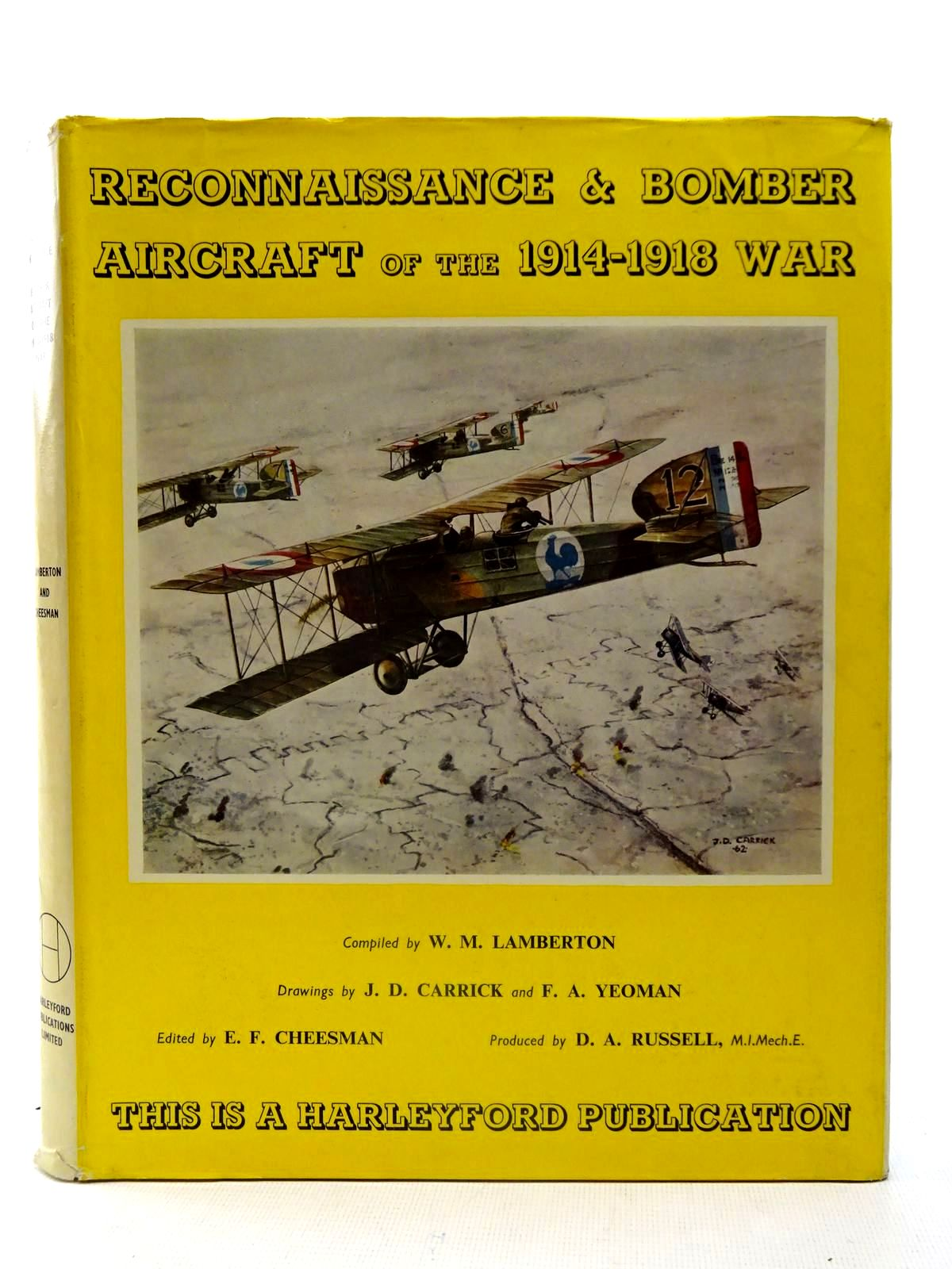 Photo of RECONNAISSANCE &AMP; BOMBER AIRCRAFT OF THE 1914-1948 WAR written by Lamberton, W.M.<br />Cheesman, E.F. illustrated by Carrick, J.D.<br />Yeoman, F.A. published by Harleyford Publications Limited (STOCK CODE: 2126126)  for sale by Stella & Rose's Books