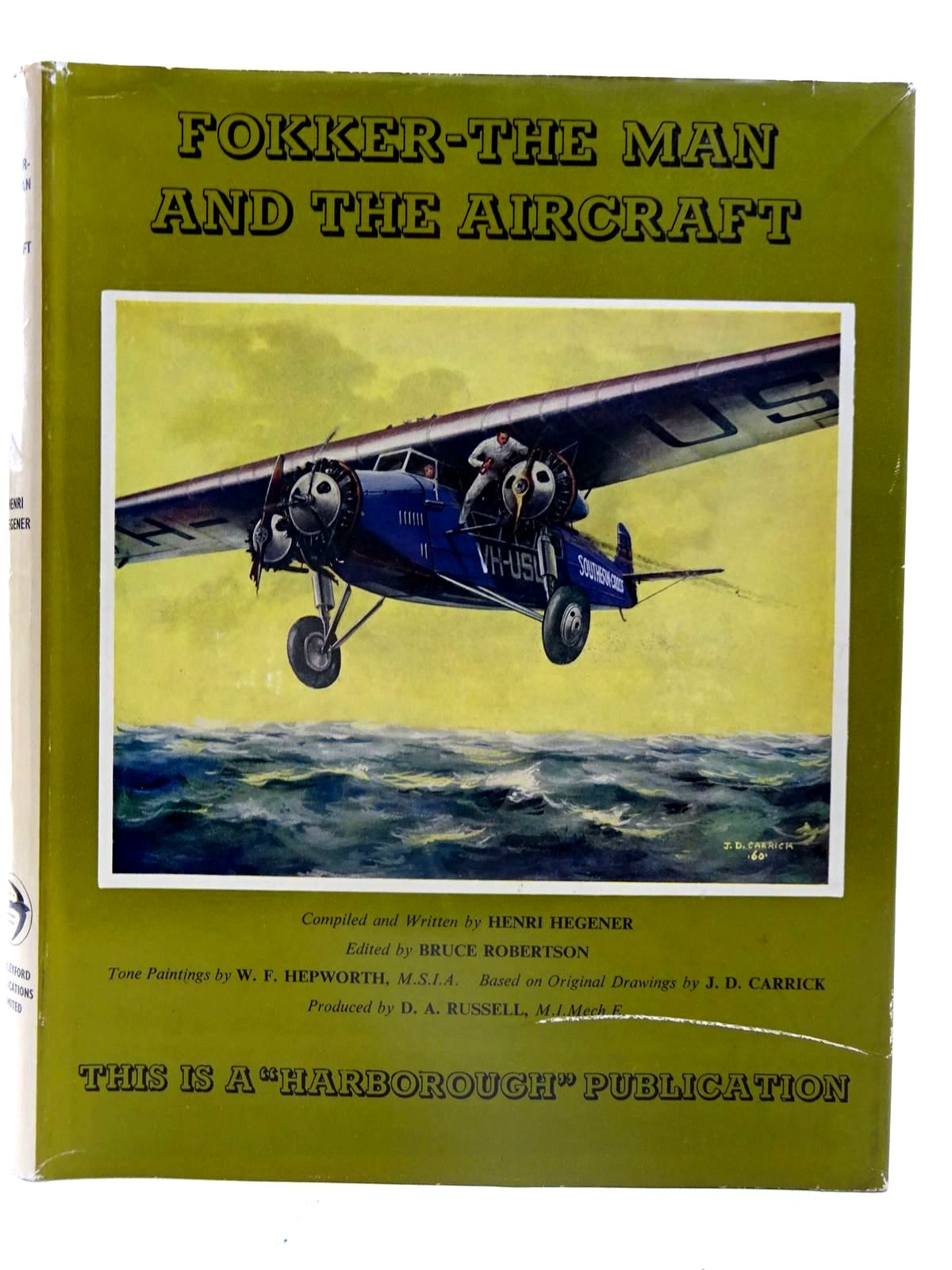 Photo of FOKKER - THE MAN AND THE AIRCRAFT written by Hegener, Henri illustrated by Hepworth, W.F. published by Harleyford Publications Limited (STOCK CODE: 2126129)  for sale by Stella & Rose's Books