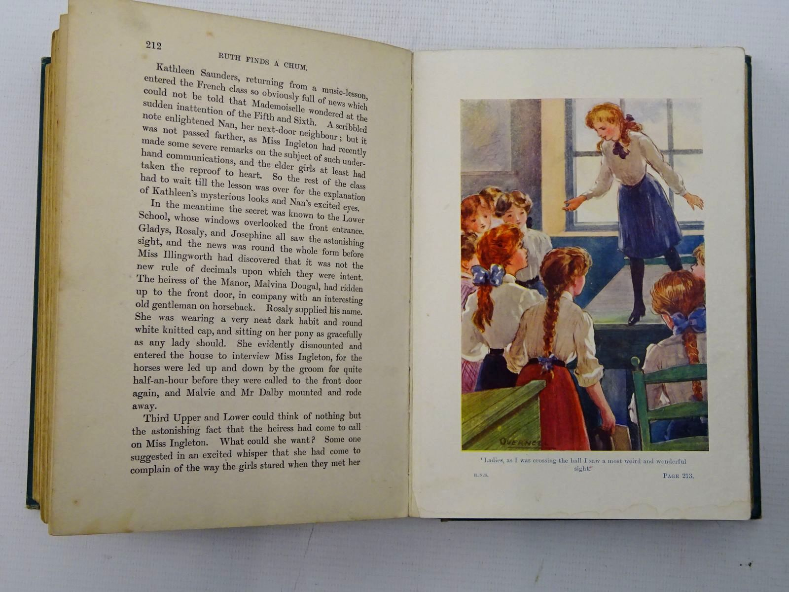 Photo of ROSALY'S NEW SCHOOL written by Oxenham, Elsie J. illustrated by Overnell, T.J. published by W. & R. Chambers Limited (STOCK CODE: 2126240)  for sale by Stella & Rose's Books