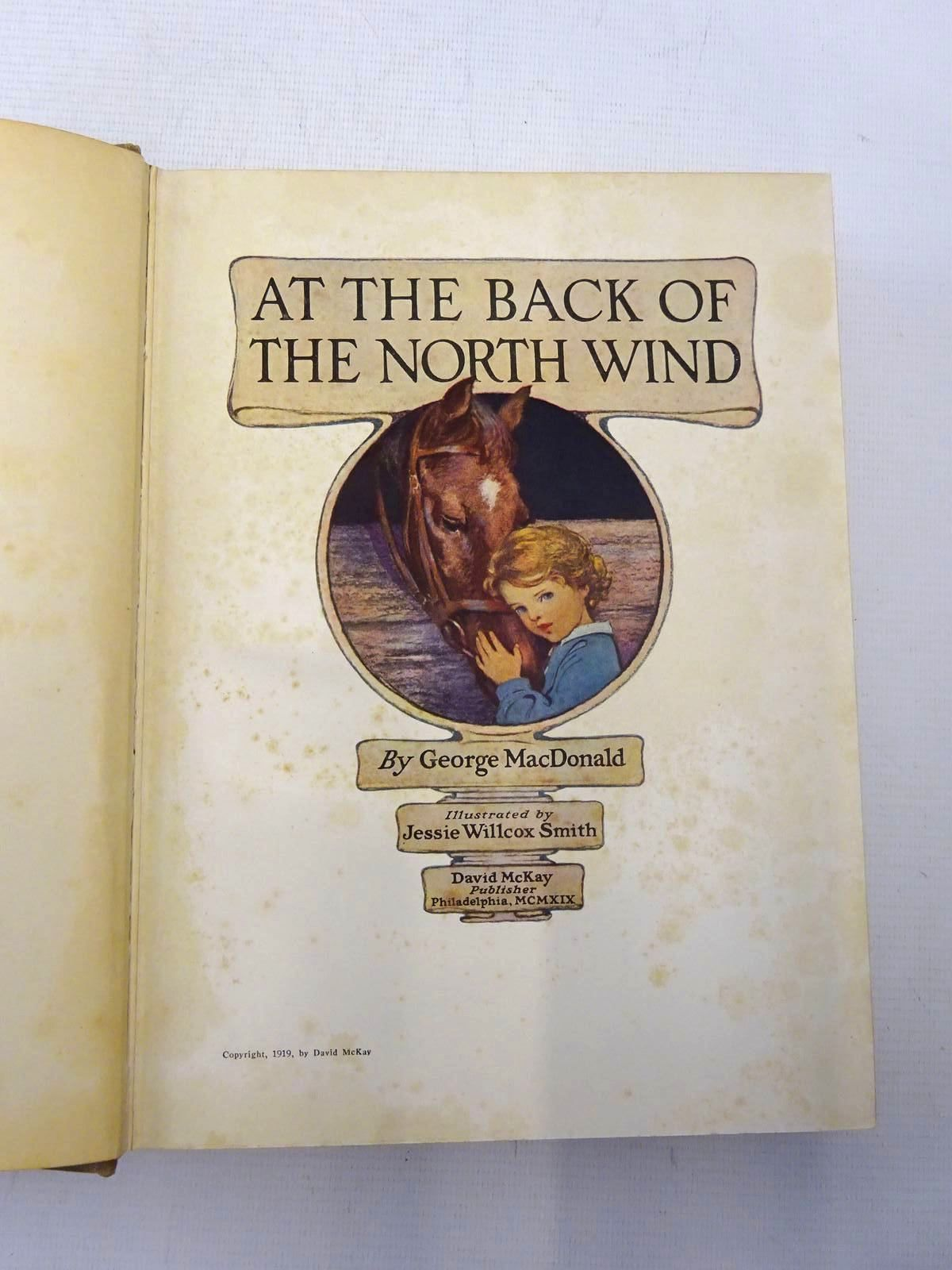 Photo of AT THE BACK OF THE NORTH WIND written by MacDonald, George illustrated by Smith, Jessie Willcox published by David McKay Company (STOCK CODE: 2126376)  for sale by Stella & Rose's Books