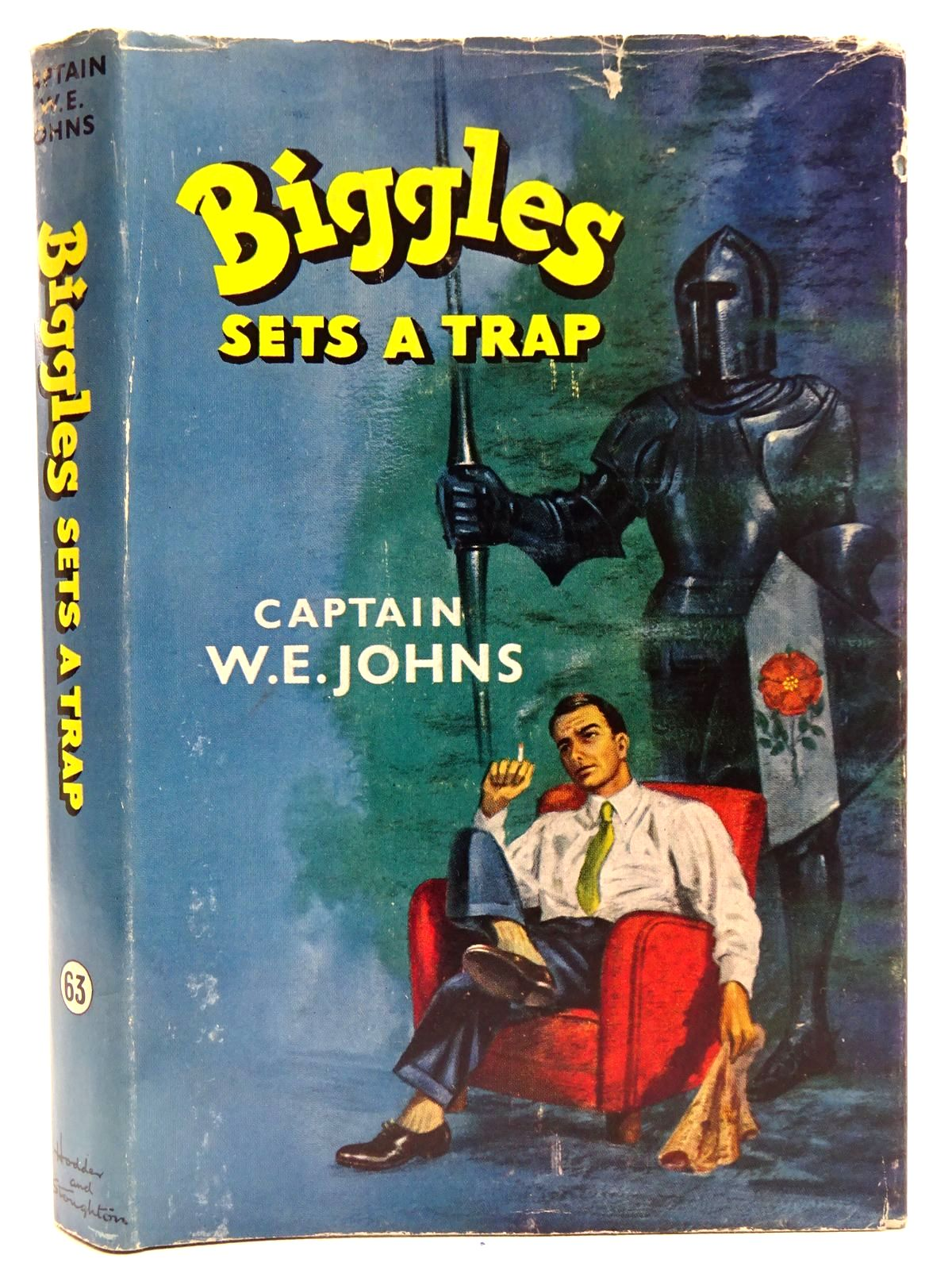 Photo of BIGGLES SETS A TRAP written by Johns, W.E. illustrated by Stead, published by Hodder & Stoughton (STOCK CODE: 2126433)  for sale by Stella & Rose's Books