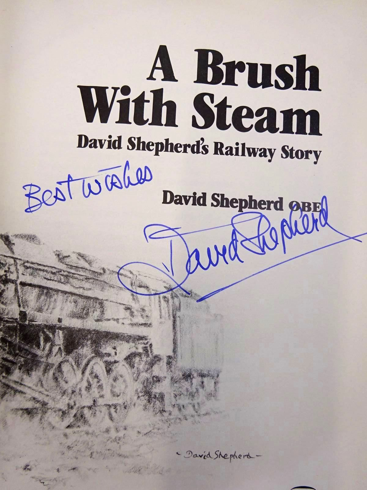 Photo of A BRUSH WITH STEAM written by Shepherd, David published by David & Charles (STOCK CODE: 2126437)  for sale by Stella & Rose's Books