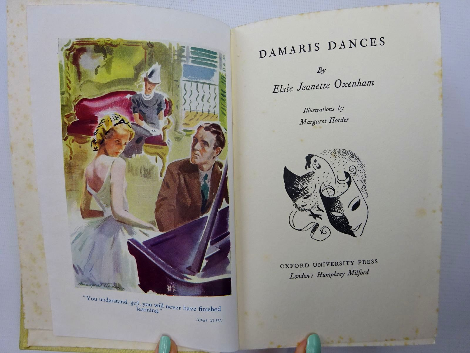 Photo of DAMARIS DANCES written by Oxenham, Elsie J. illustrated by Horder, Margaret published by Oxford University Press, Humphrey Milford (STOCK CODE: 2126518)  for sale by Stella & Rose's Books